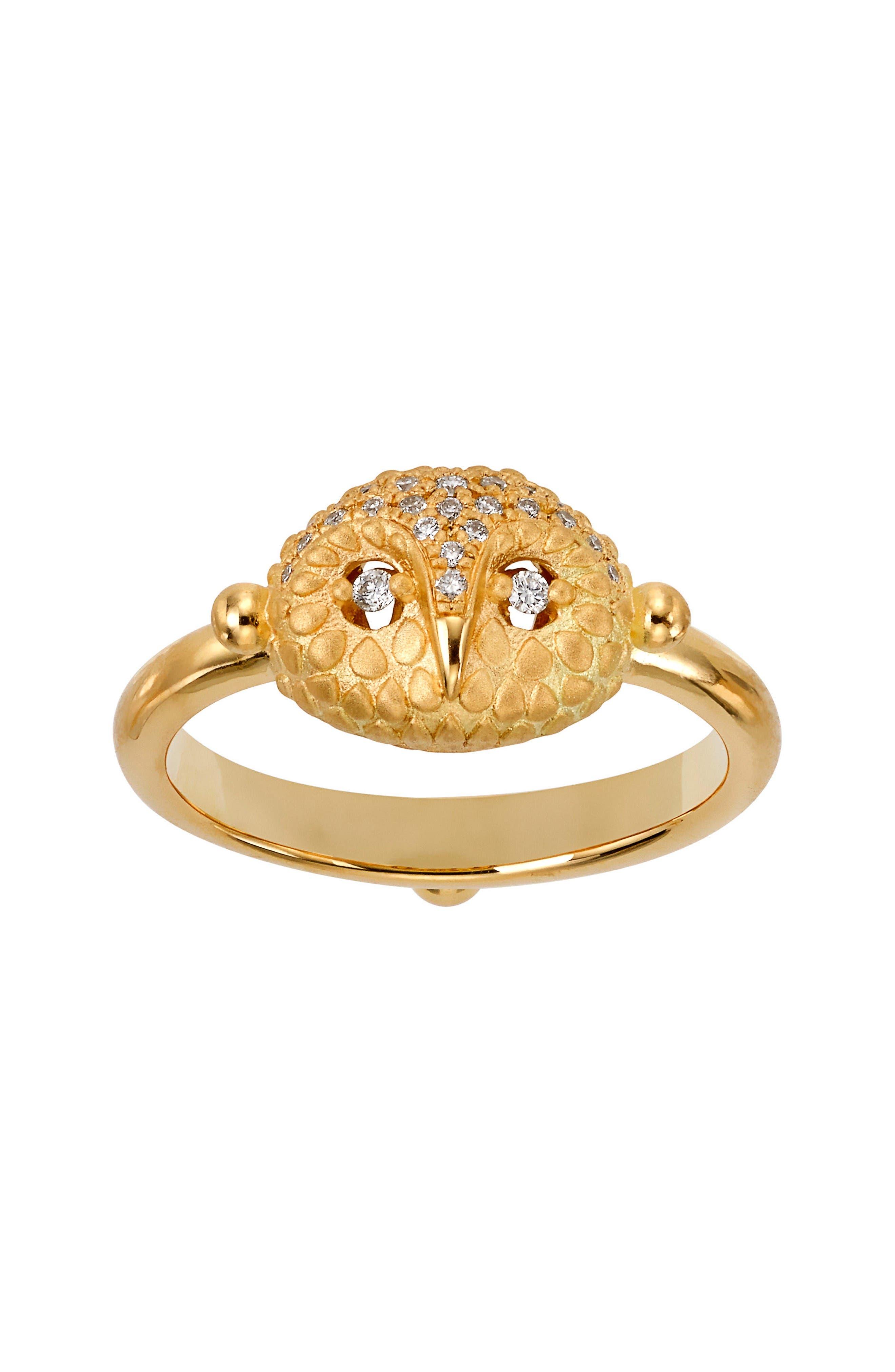 Temple St. Clair Diamond Owl Ring