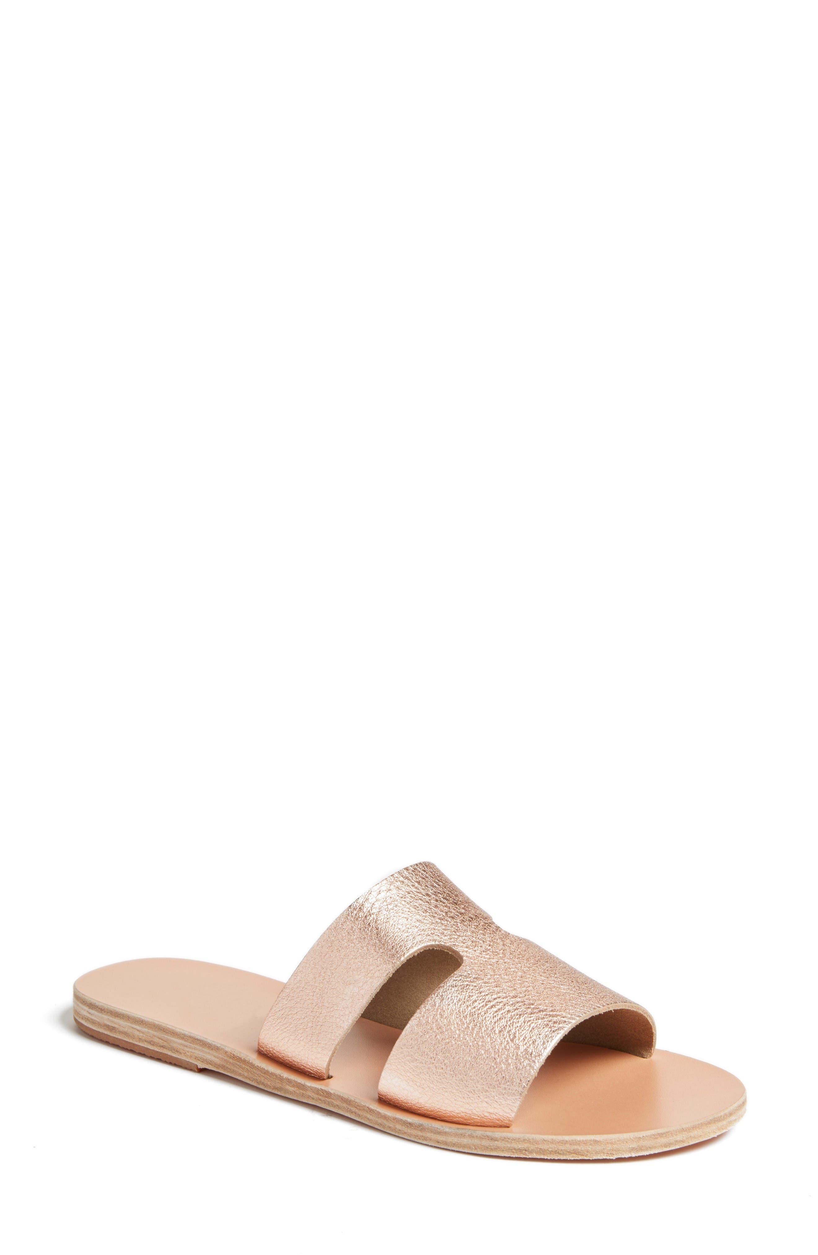 Ancient Greek Sandals Women's Apteros Genuine Calf Hair Slide Sandal XkShQX7