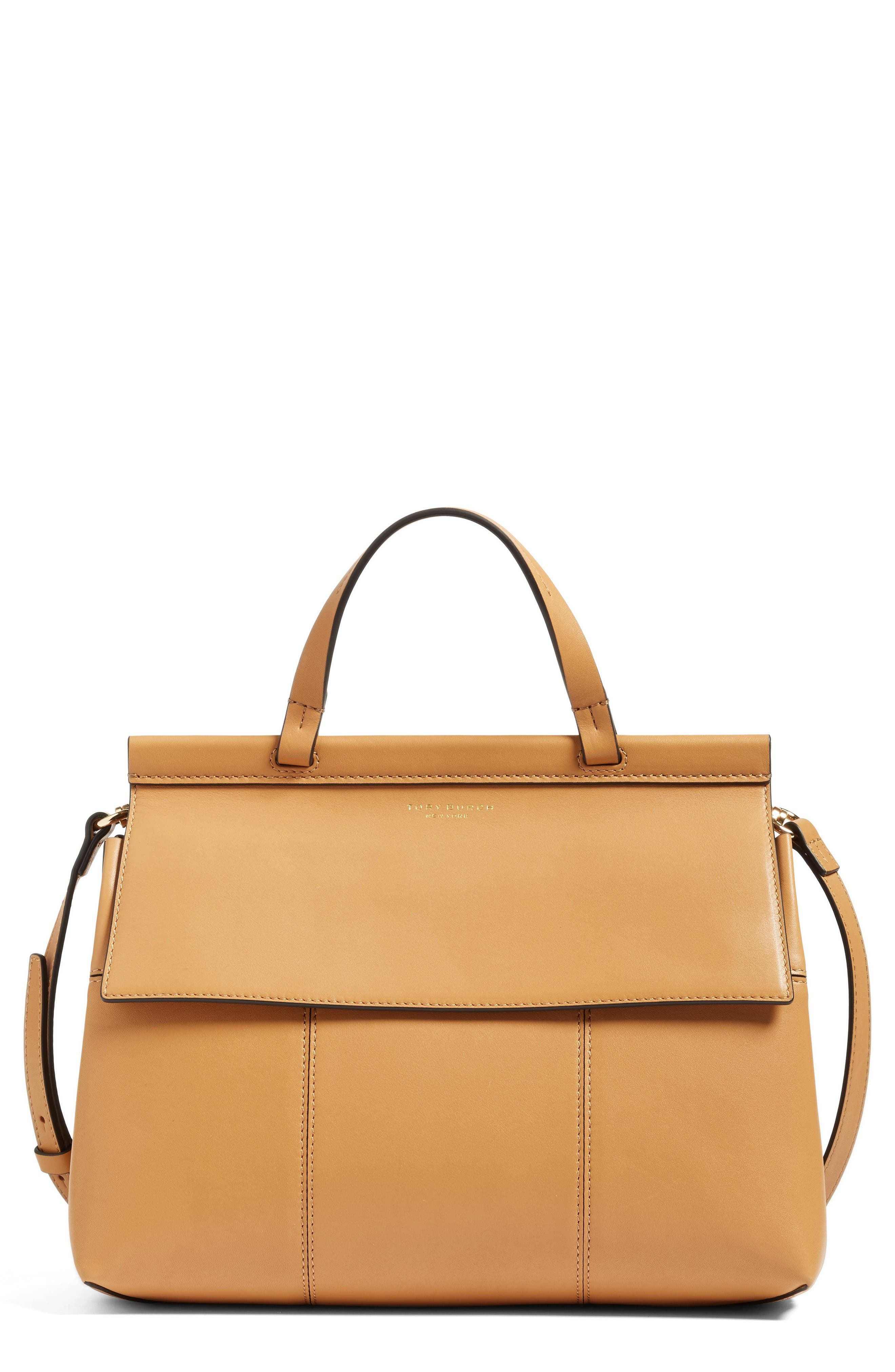 Main Image - Tory Burch Block T Leather Top Handle Satchel