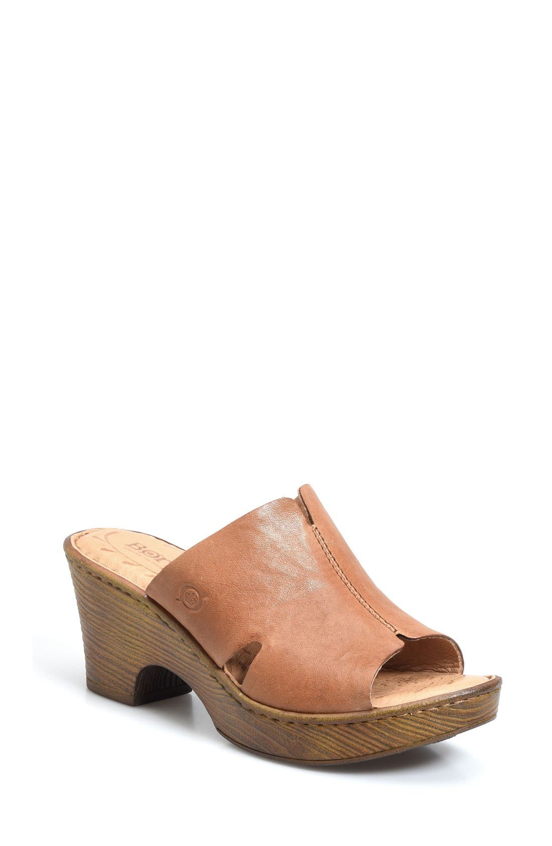 Crato Mule,                             Main thumbnail 1, color,                             Brown Leather