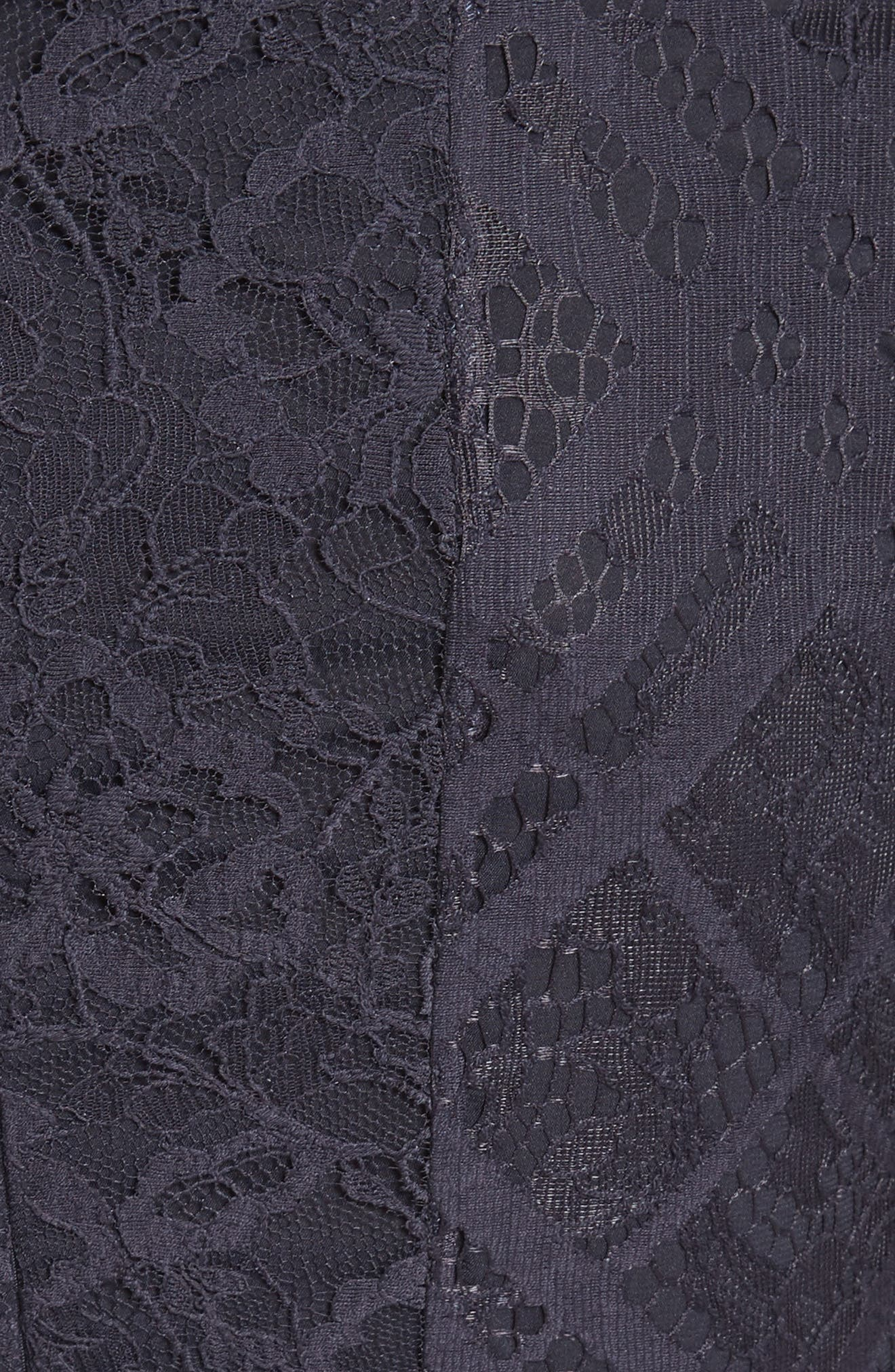 Liliana Lace Fit & Flare Dress,                             Alternate thumbnail 3, color,                             Navy