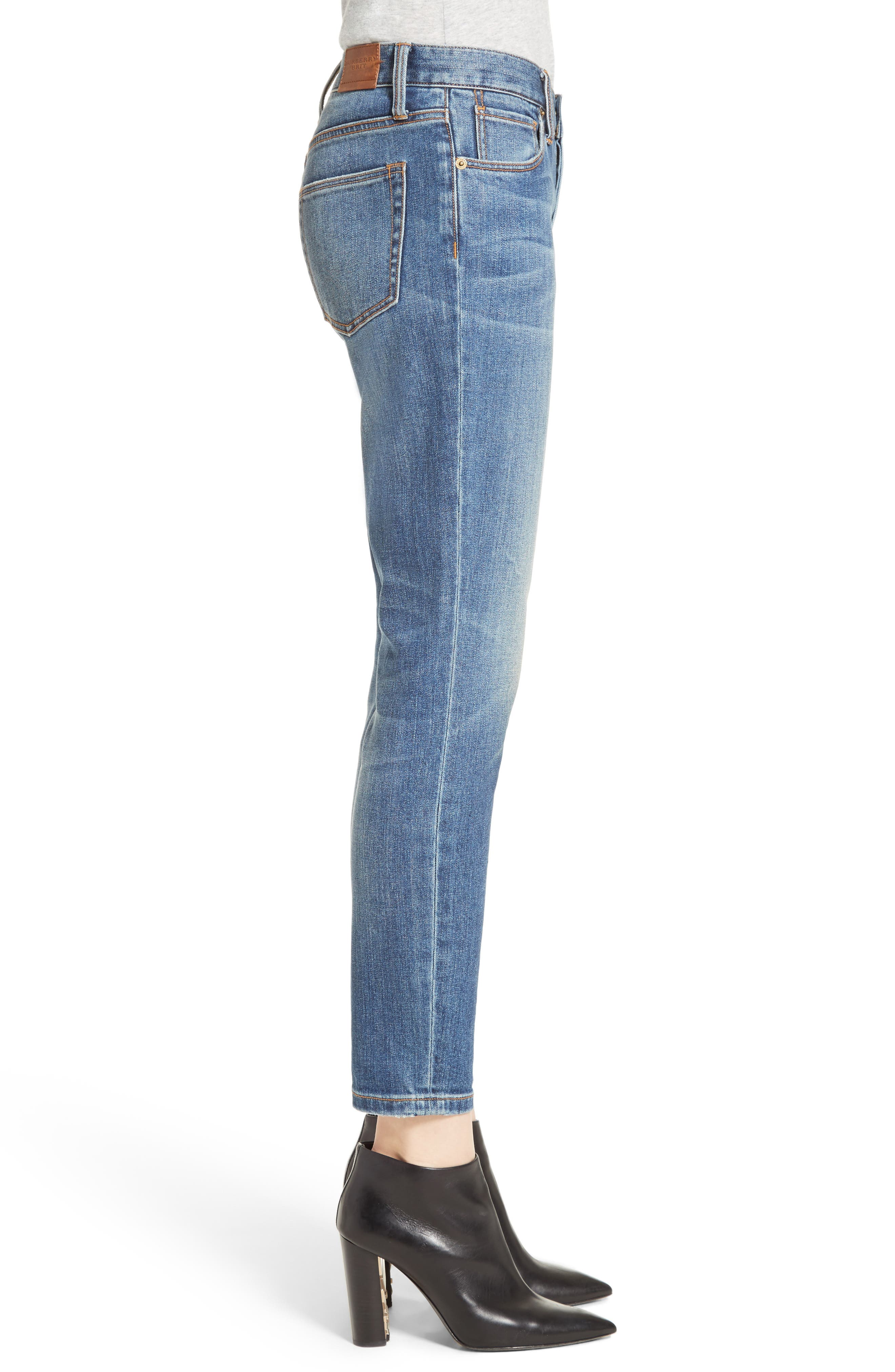 Alternate Image 5  - Burberry Relaxed Skinny Jeans