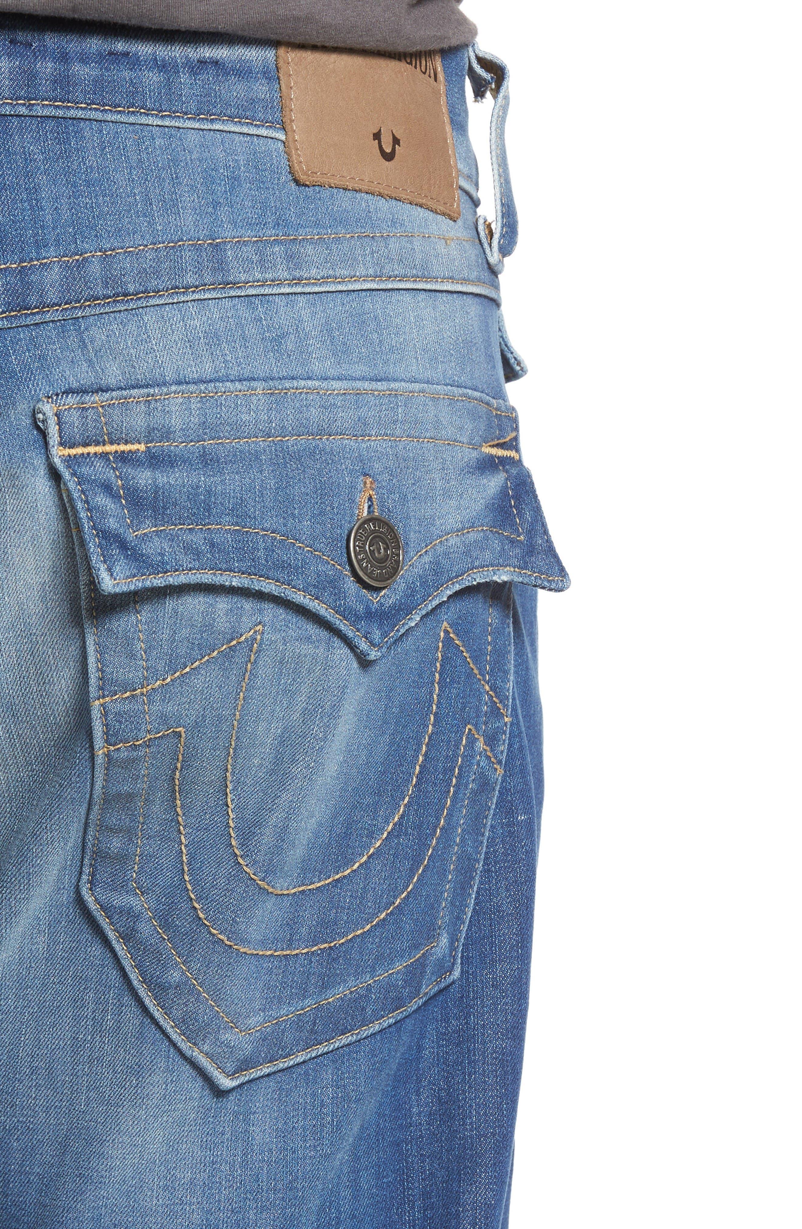 Alternate Image 4  - True Religion Brand Jeans Geno Straight Leg Jeans (Sun Faded)