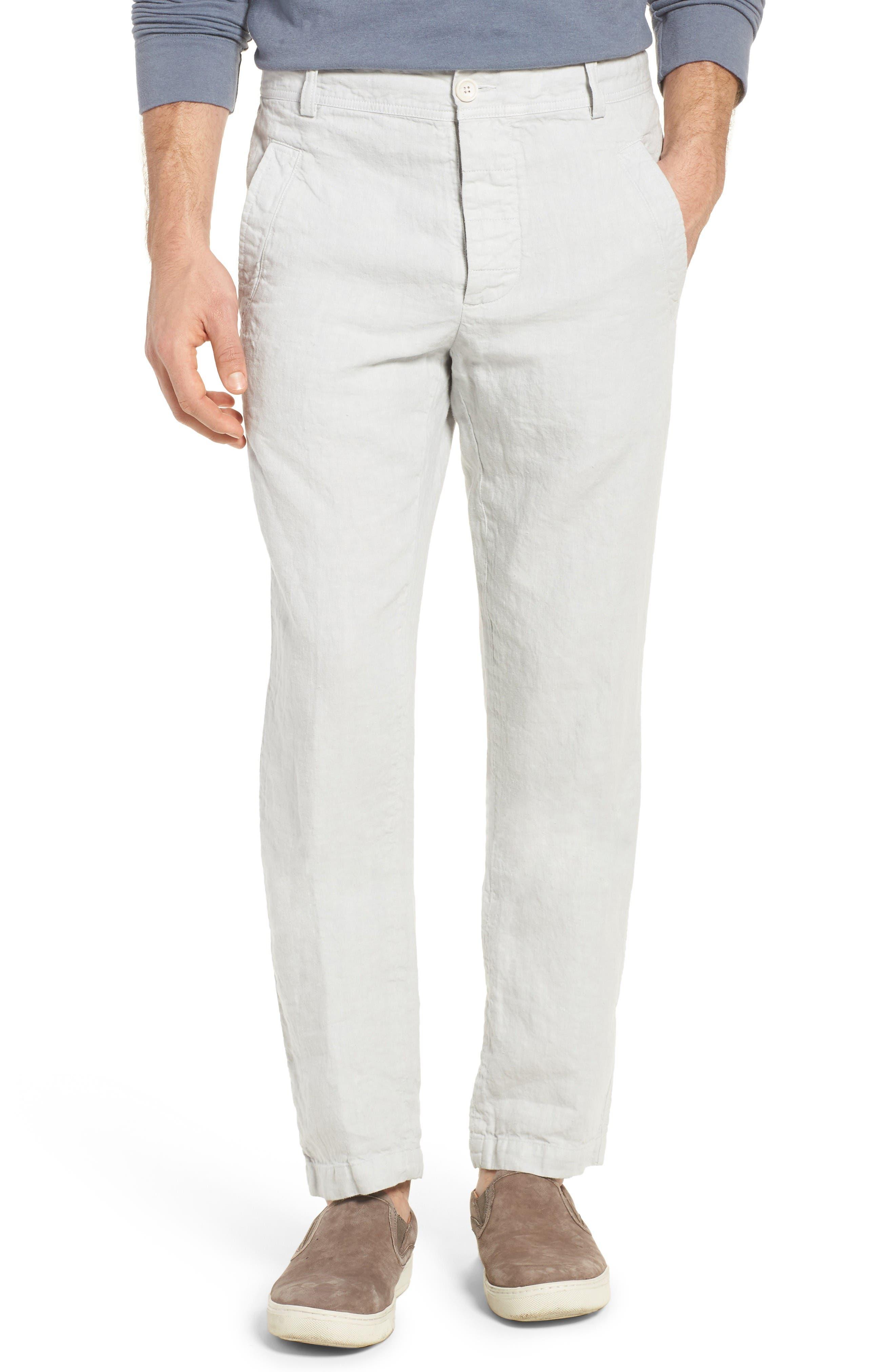 James Perse Slub Linen Twill Utility Pants