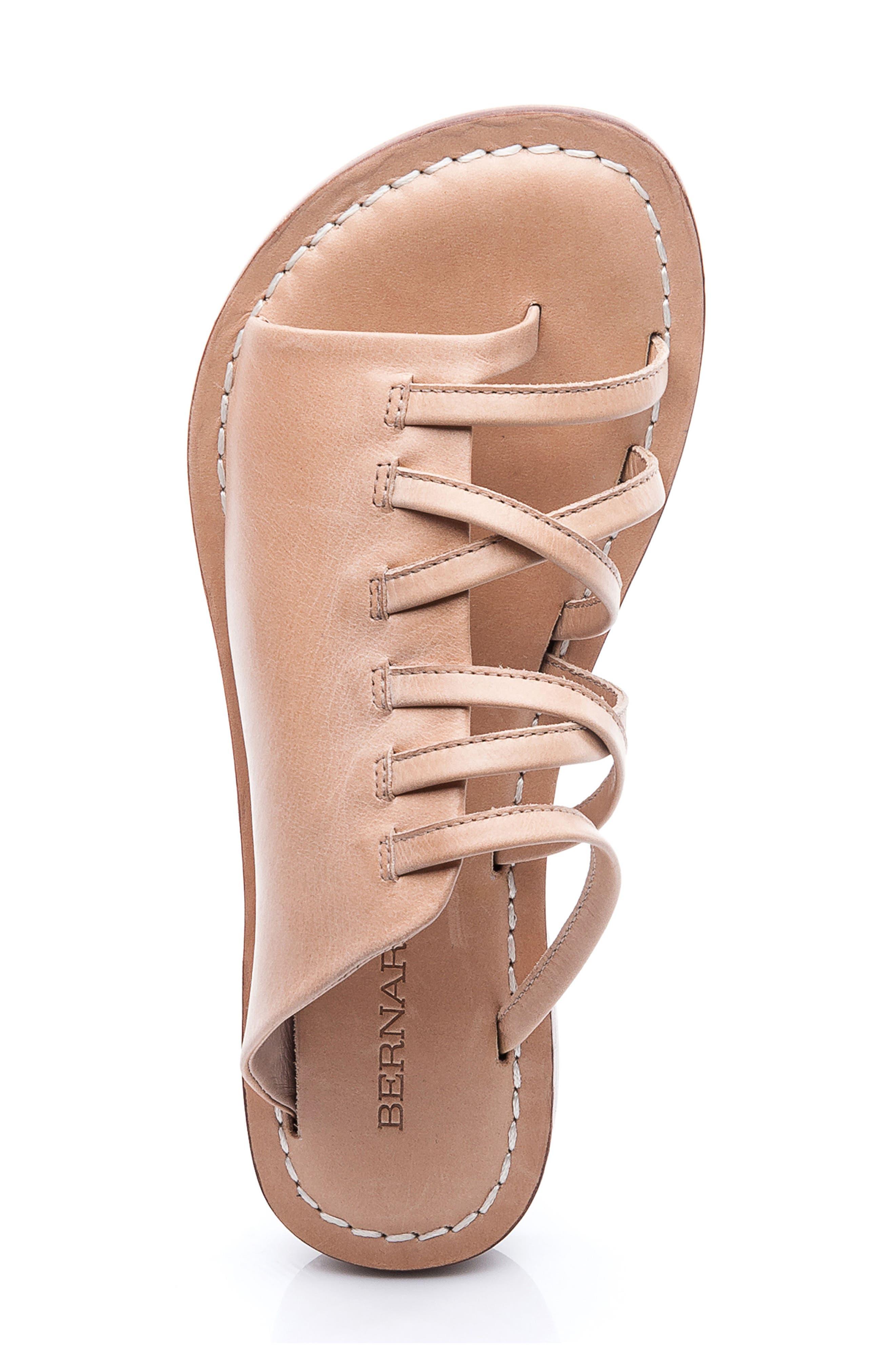 Bernardo Tori Slide Sandal,                             Alternate thumbnail 3, color,                             Light Camel Leather