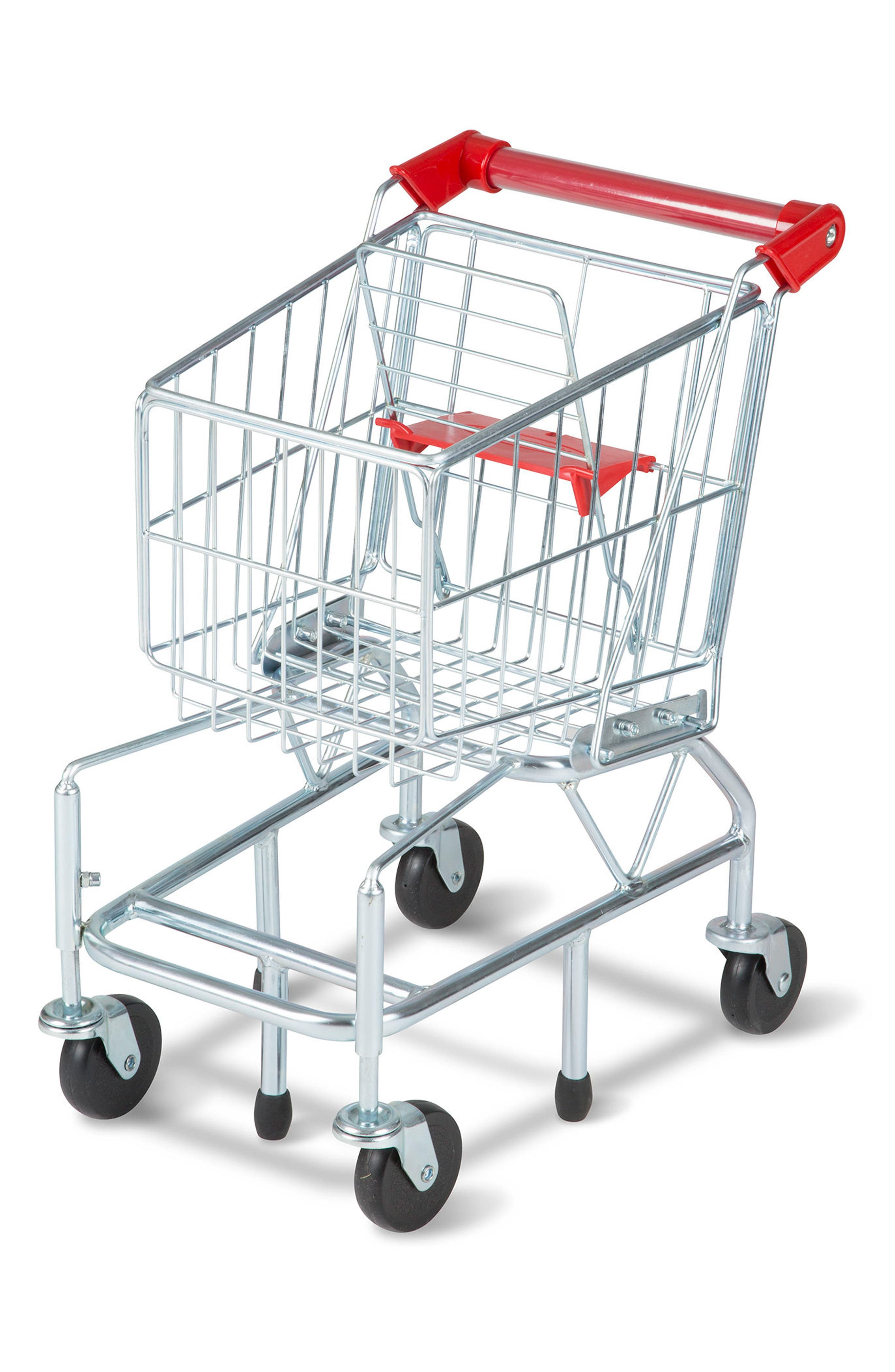 Grocery Shopping Cart,                         Main,                         color, Grey