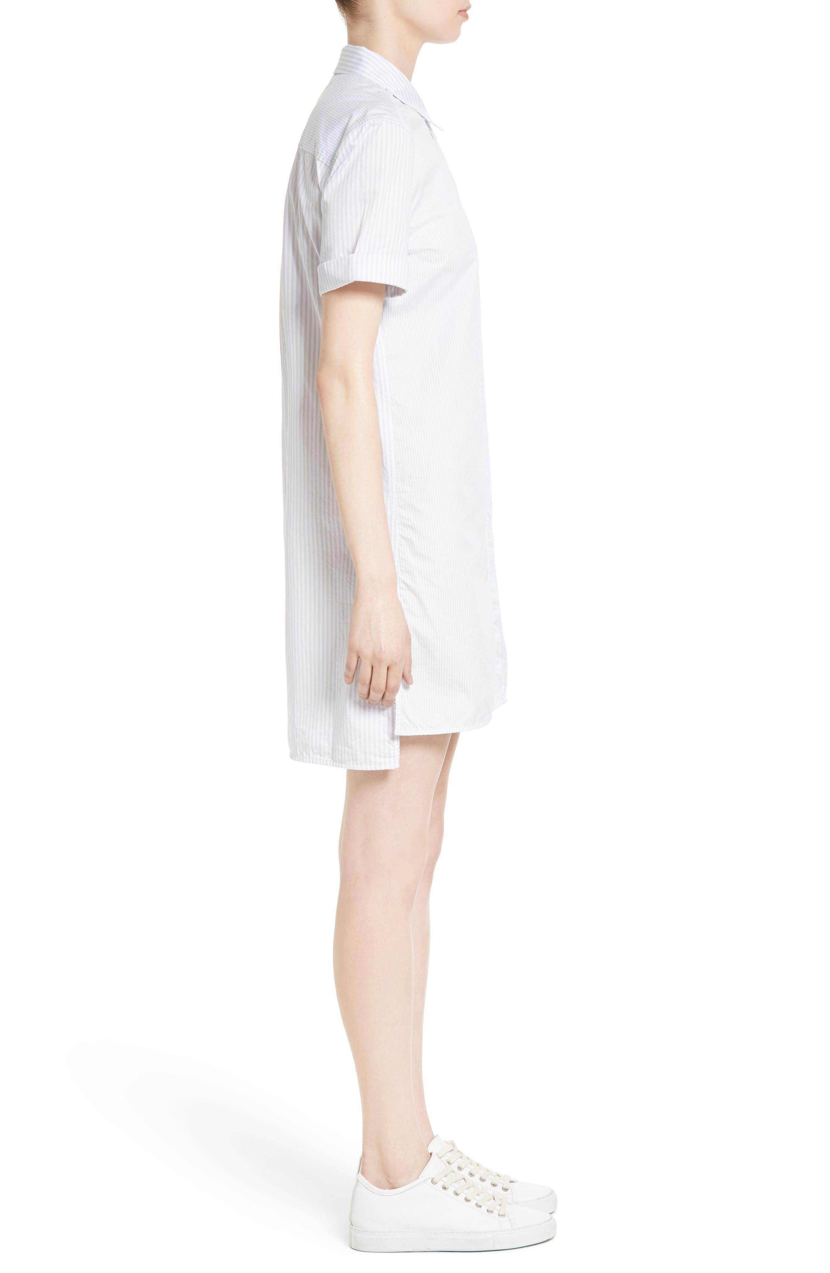 Mirelle Stripe Cotton Shirtdress,                             Alternate thumbnail 3, color,                             Bt Wht-Bri