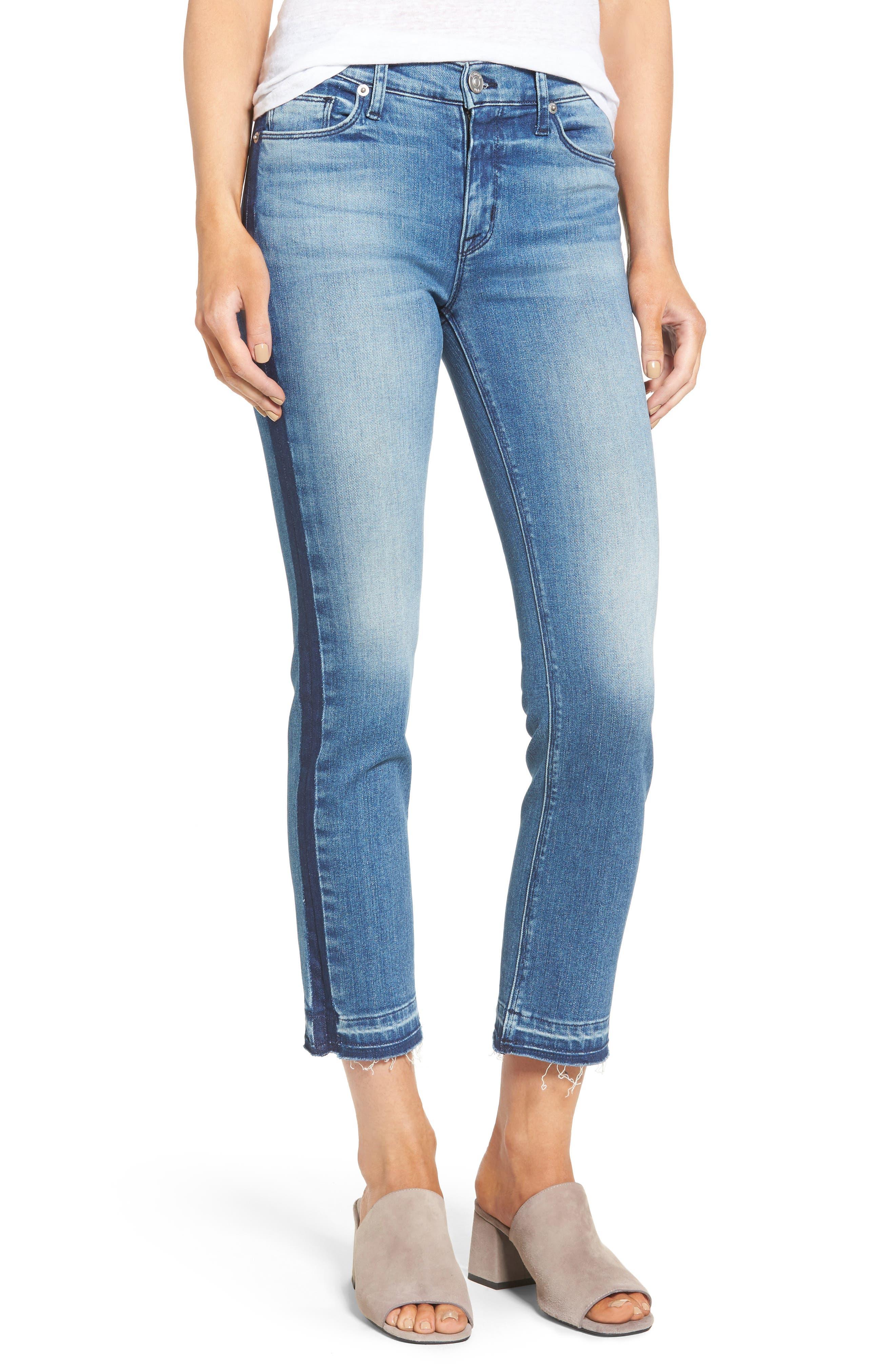 Tilda Crop Straight Leg Jeans,                             Main thumbnail 1, color,                             Impulse