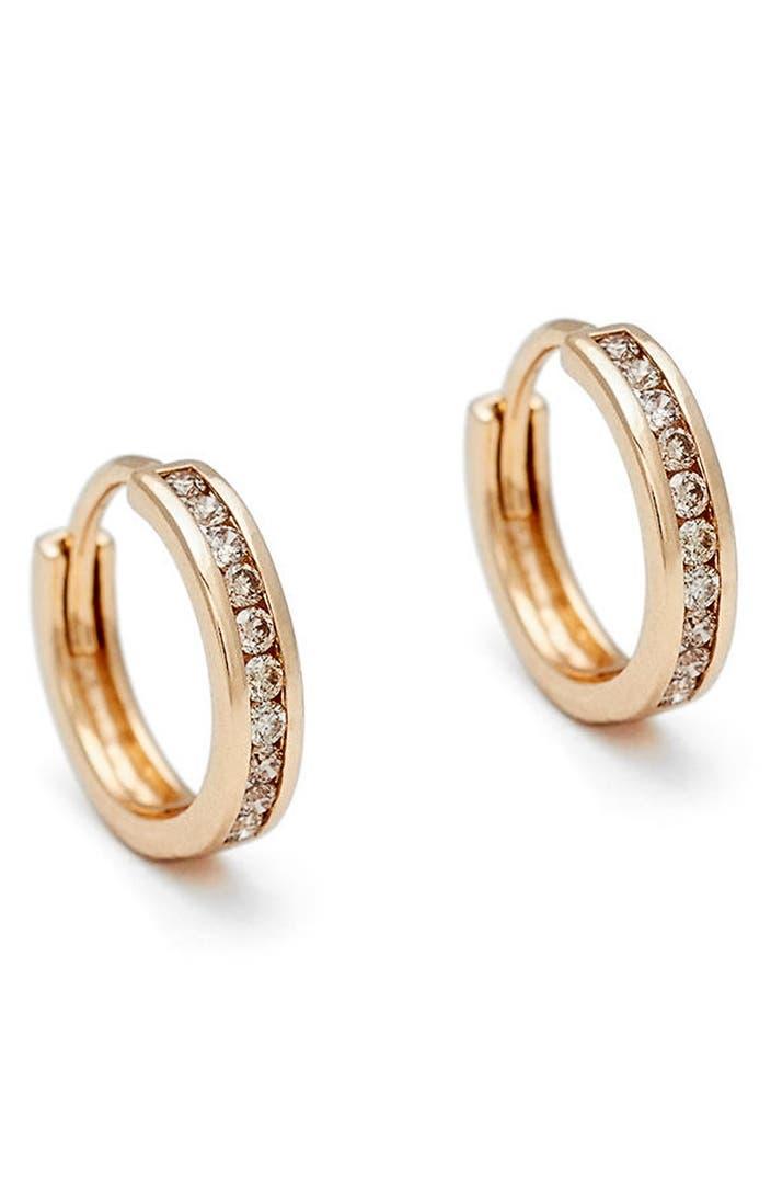 anna sheffield licol champagne diamond hoop earrings. Black Bedroom Furniture Sets. Home Design Ideas