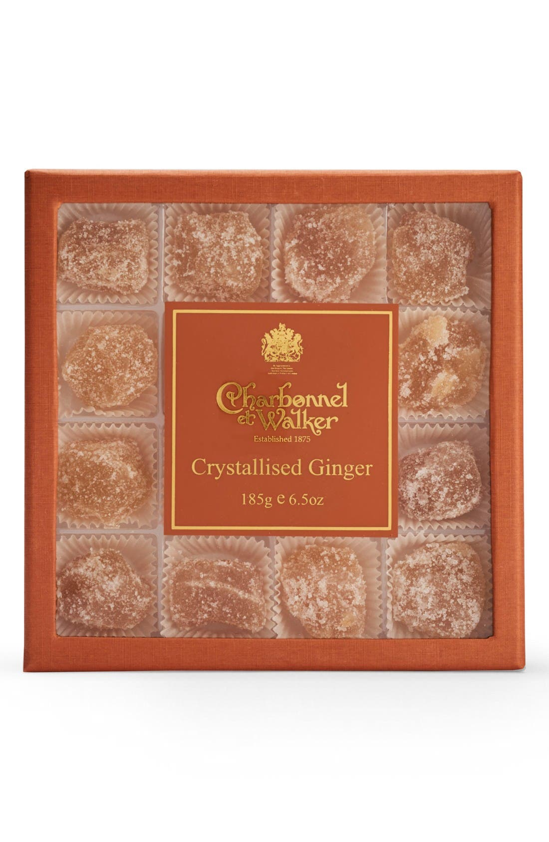 Crystallized Ginger Candies in Gift Box,                             Main thumbnail 1, color,                             Orange