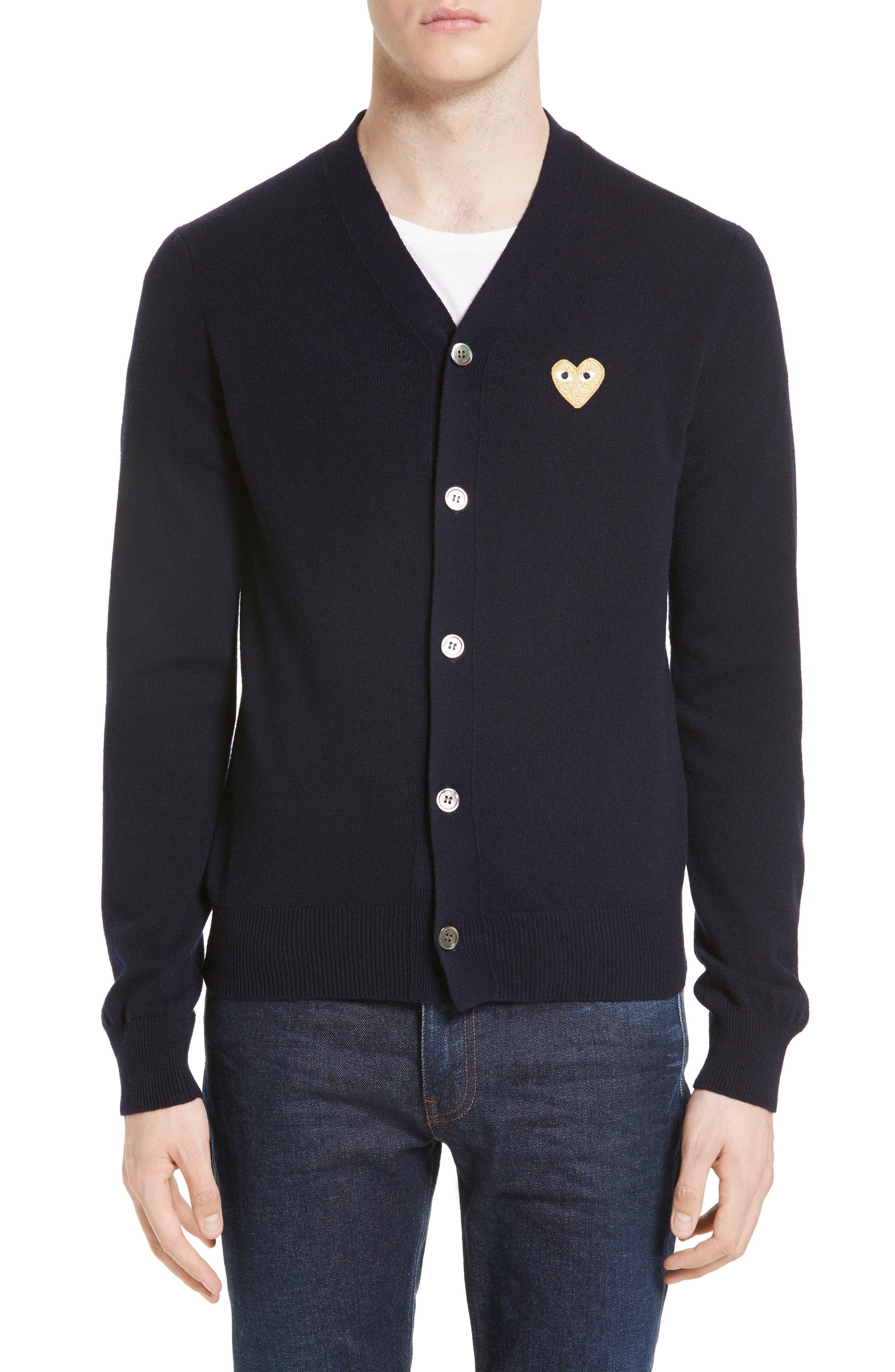Sweater for Men Jumper On Sale, Black, Wool, 2017, L S XL Comme Des Garçons