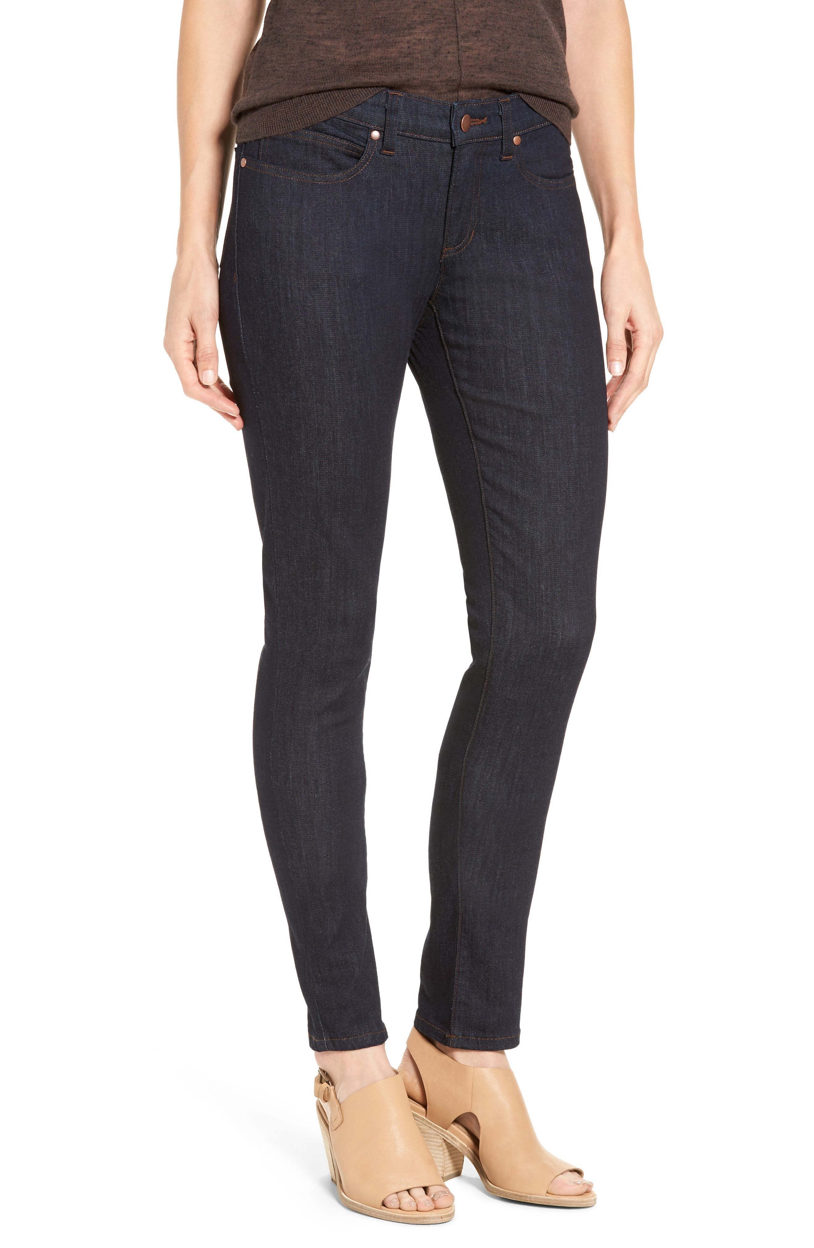 Alternate Image 1 Selected - Eileen Fisher Stretch Skinny Jeans (Regular & Petite)