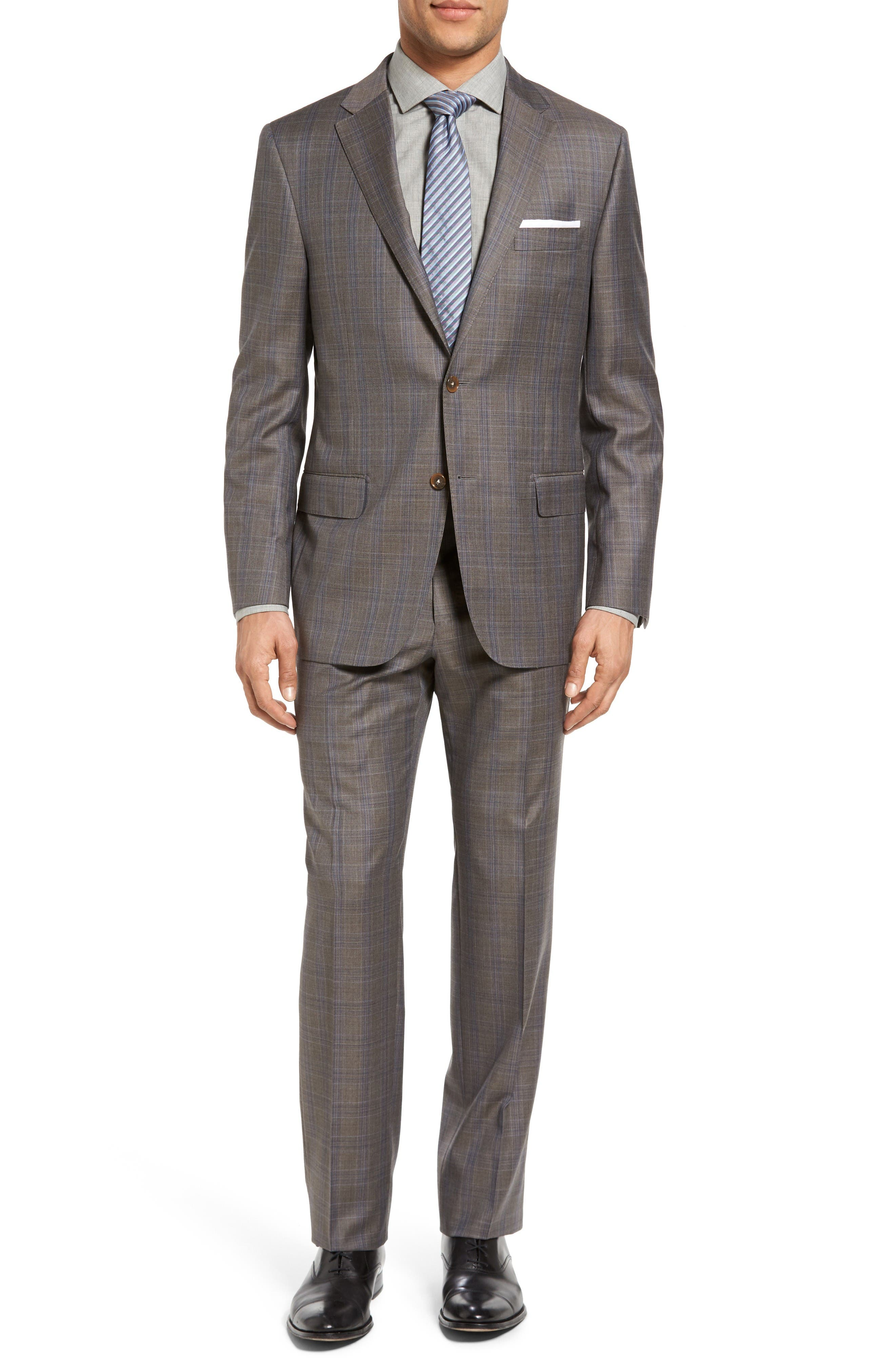 Main Image - Hickey Freeman Beacon Classic Fit Plaid Wool Suit