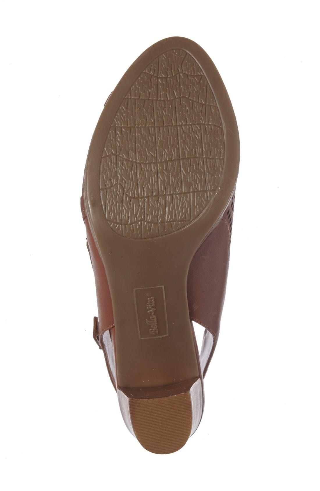 Lenore Open Toe Bootie,                             Alternate thumbnail 4, color,                             Dark Tan Leather