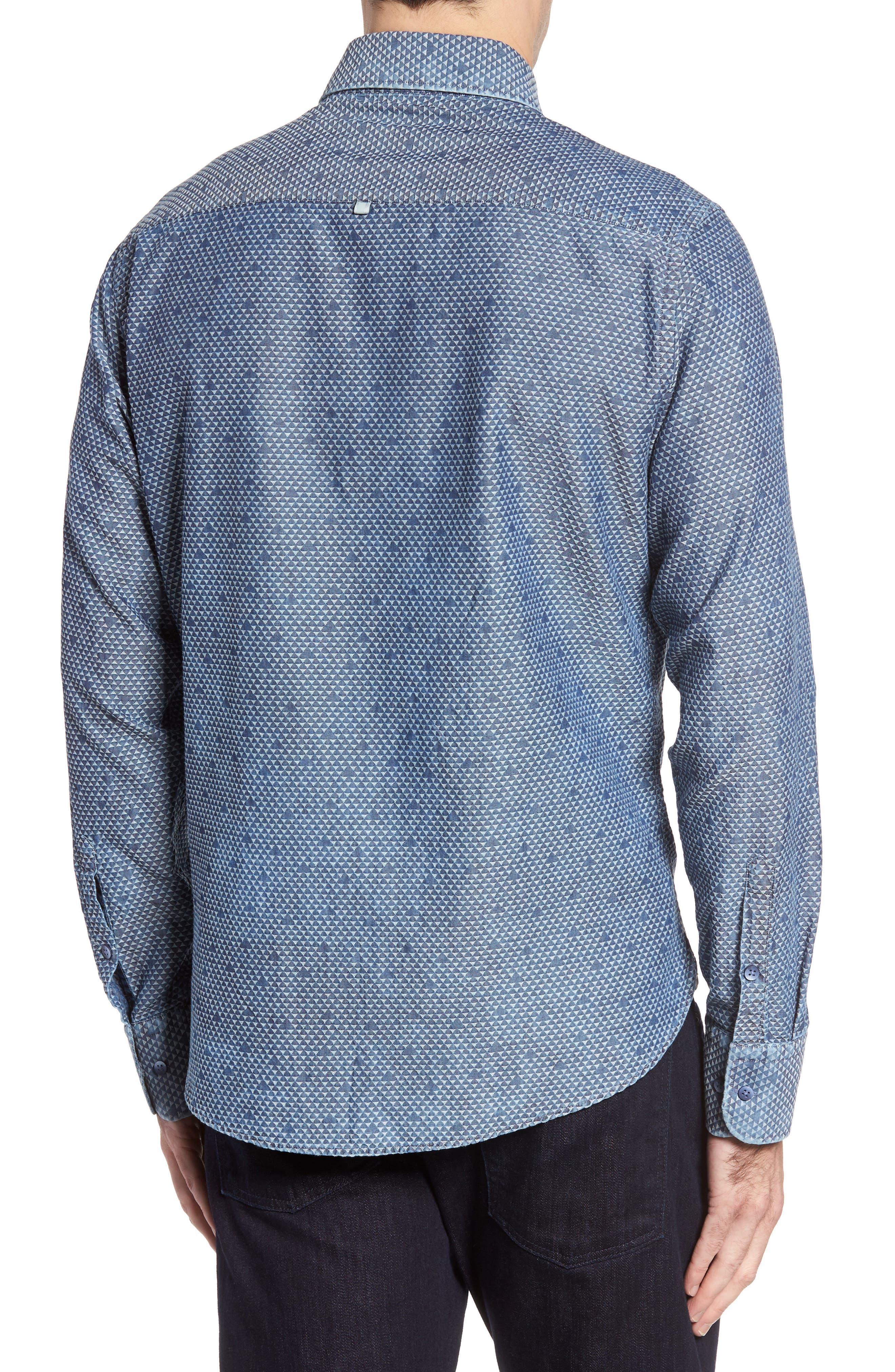 Alternate Image 2  - Stone Rose Triangle Jacquard Sport Shirt