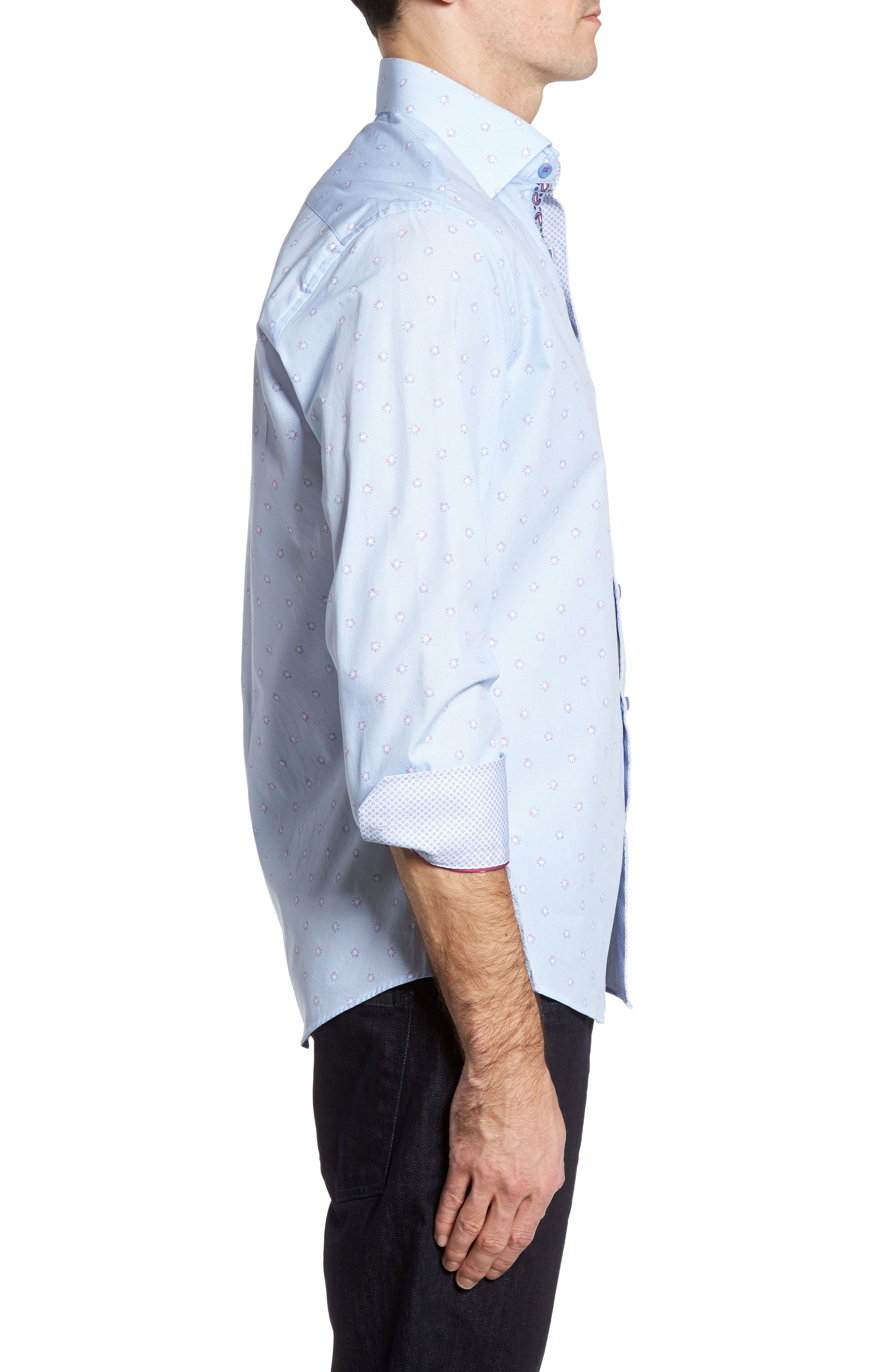 Alternate Image 3  - Stone Rose Slim Fit Dot Sport Shirt