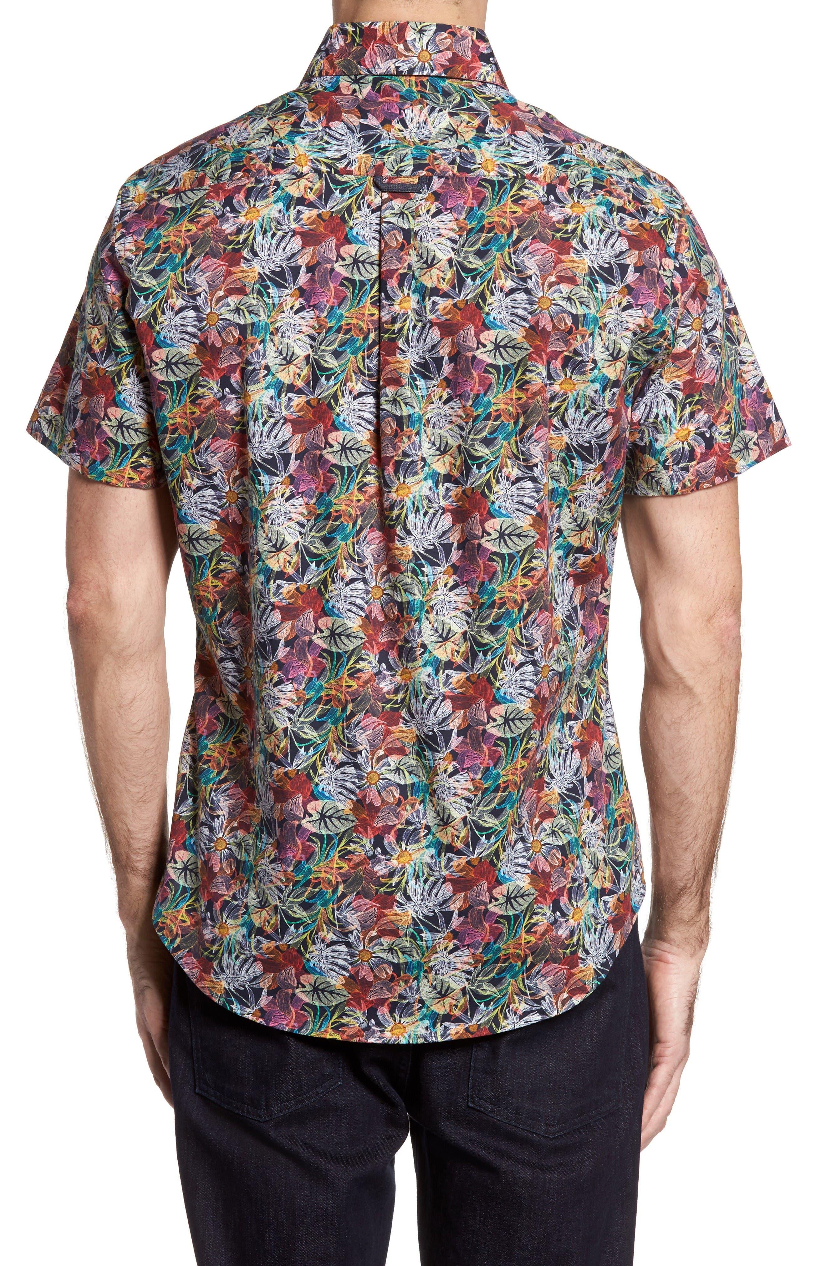 Alternate Image 2  - Stone Rose Slim Fit Floral Print Sport Shirt