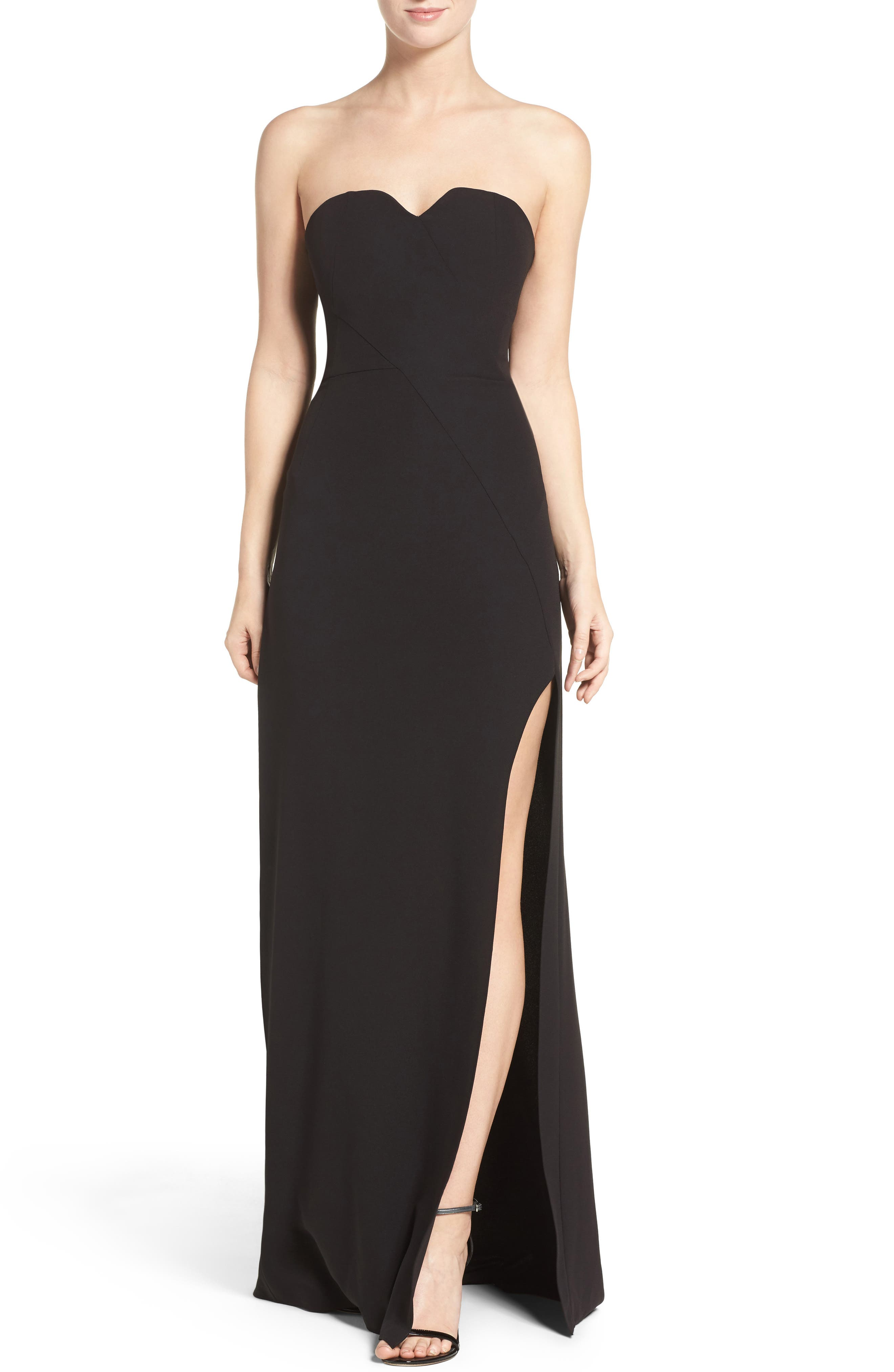 Main Image - Halston Heritage High Slit Gown