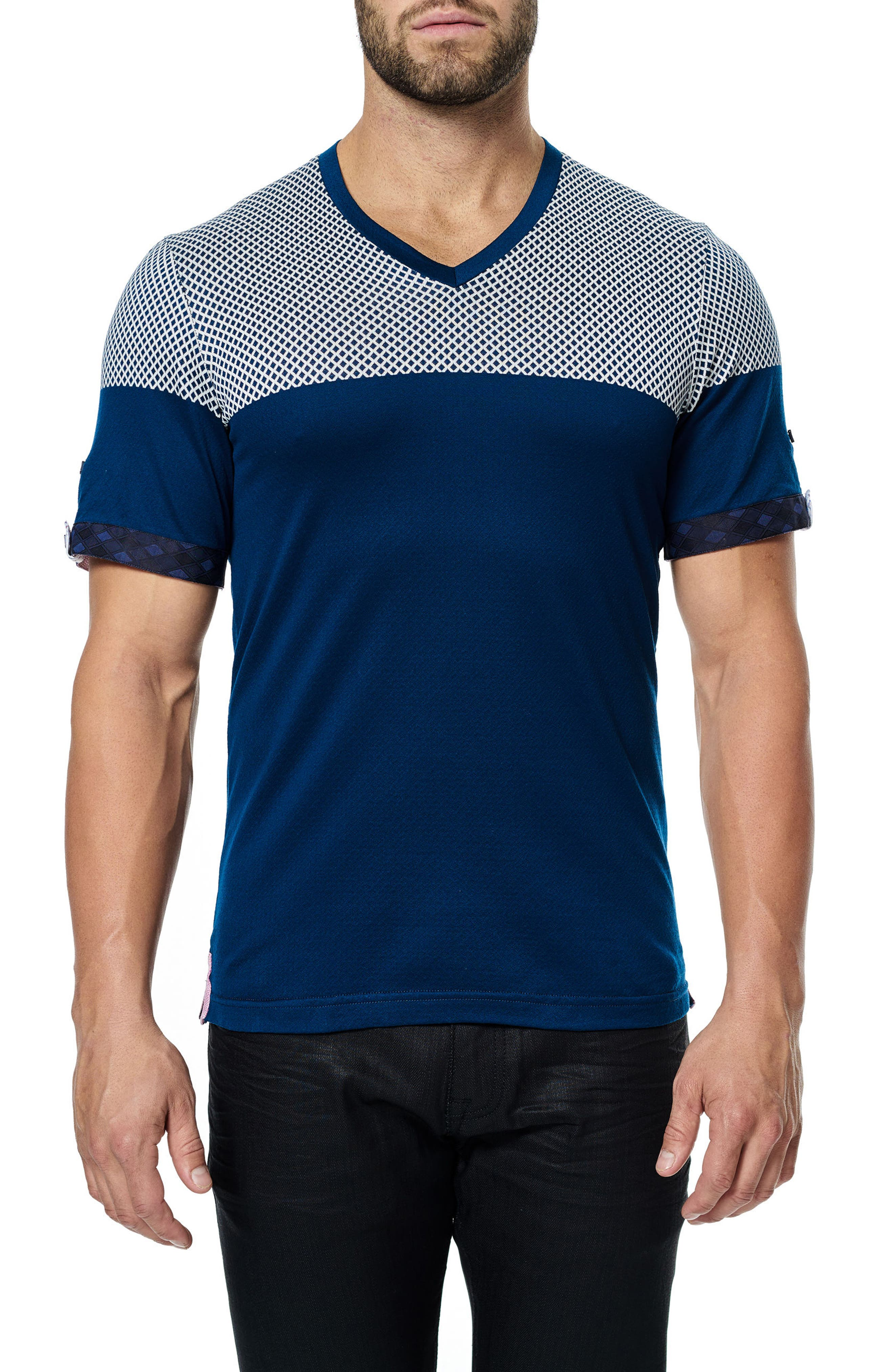 Alternate Image 1 Selected - Maceoo V-Neck Stretch T-Shirt