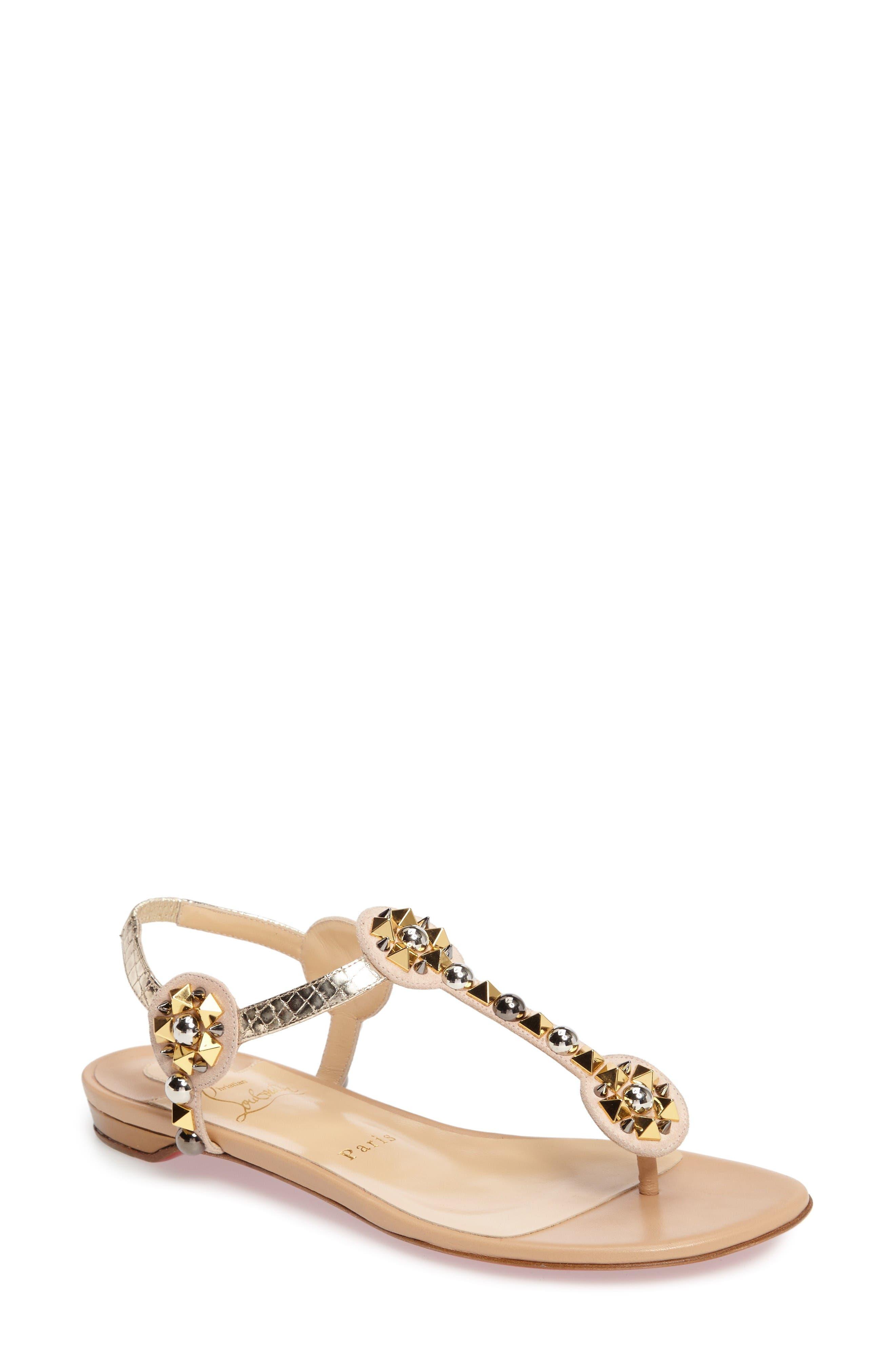 Christian Louboutin Kaleidra T-Strap Sandal (Women)