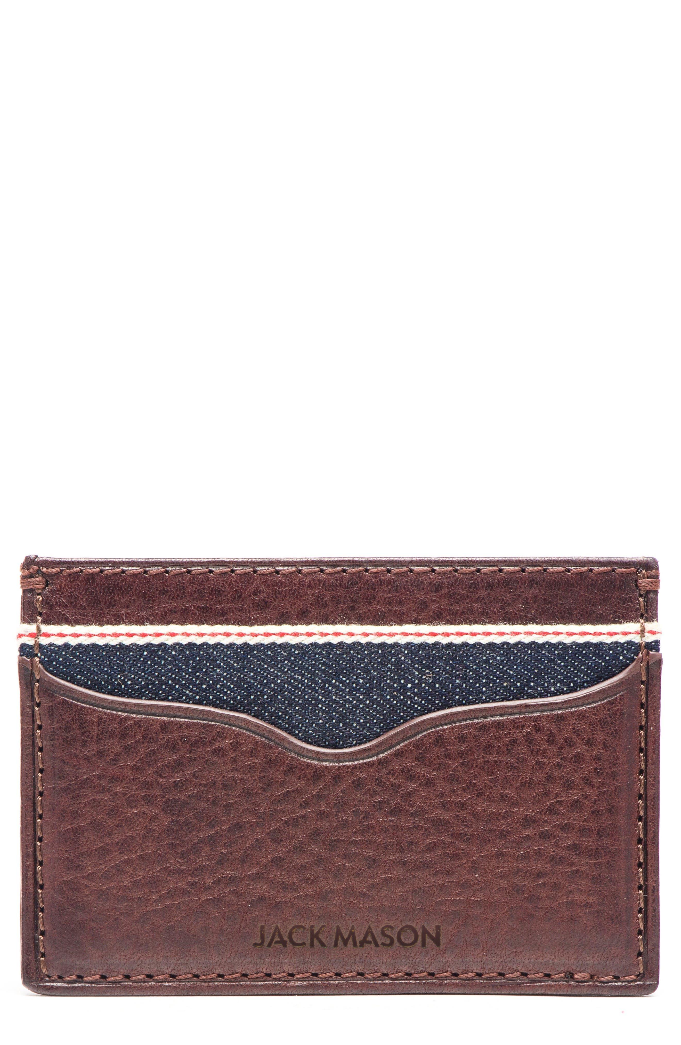 Jack Mason Leather & Denim Card Case