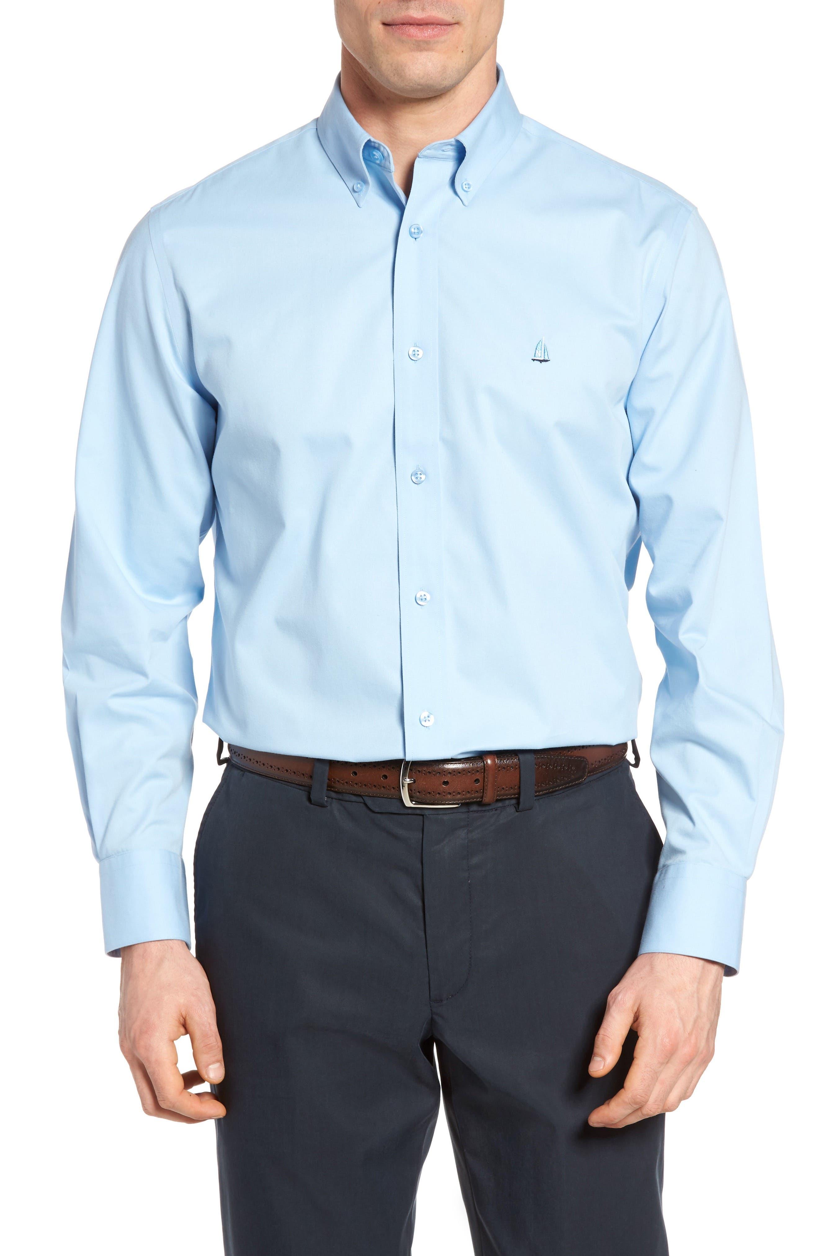 Nordstrom Men's Shop Smartcare™ Traditional Fit Twill Boat Shirt (Regular & Tall)