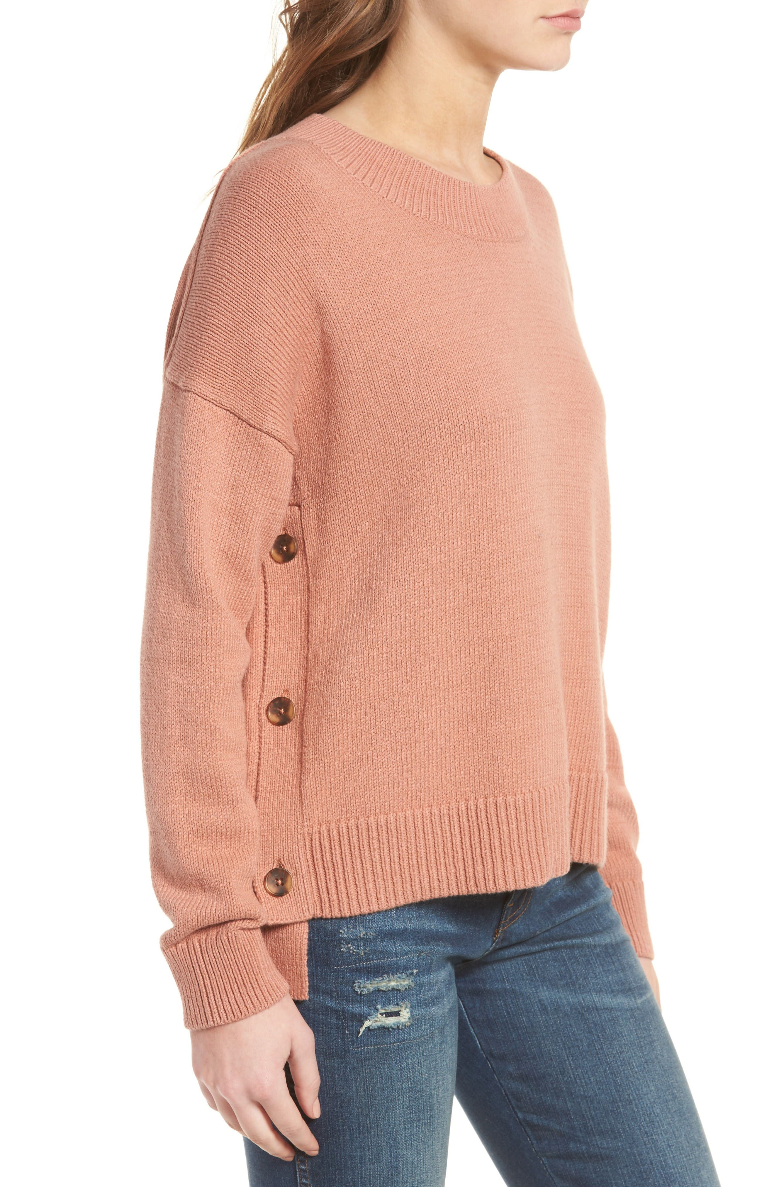 Alternate Image 3  - Madewell Brownstone Side Button Sweater