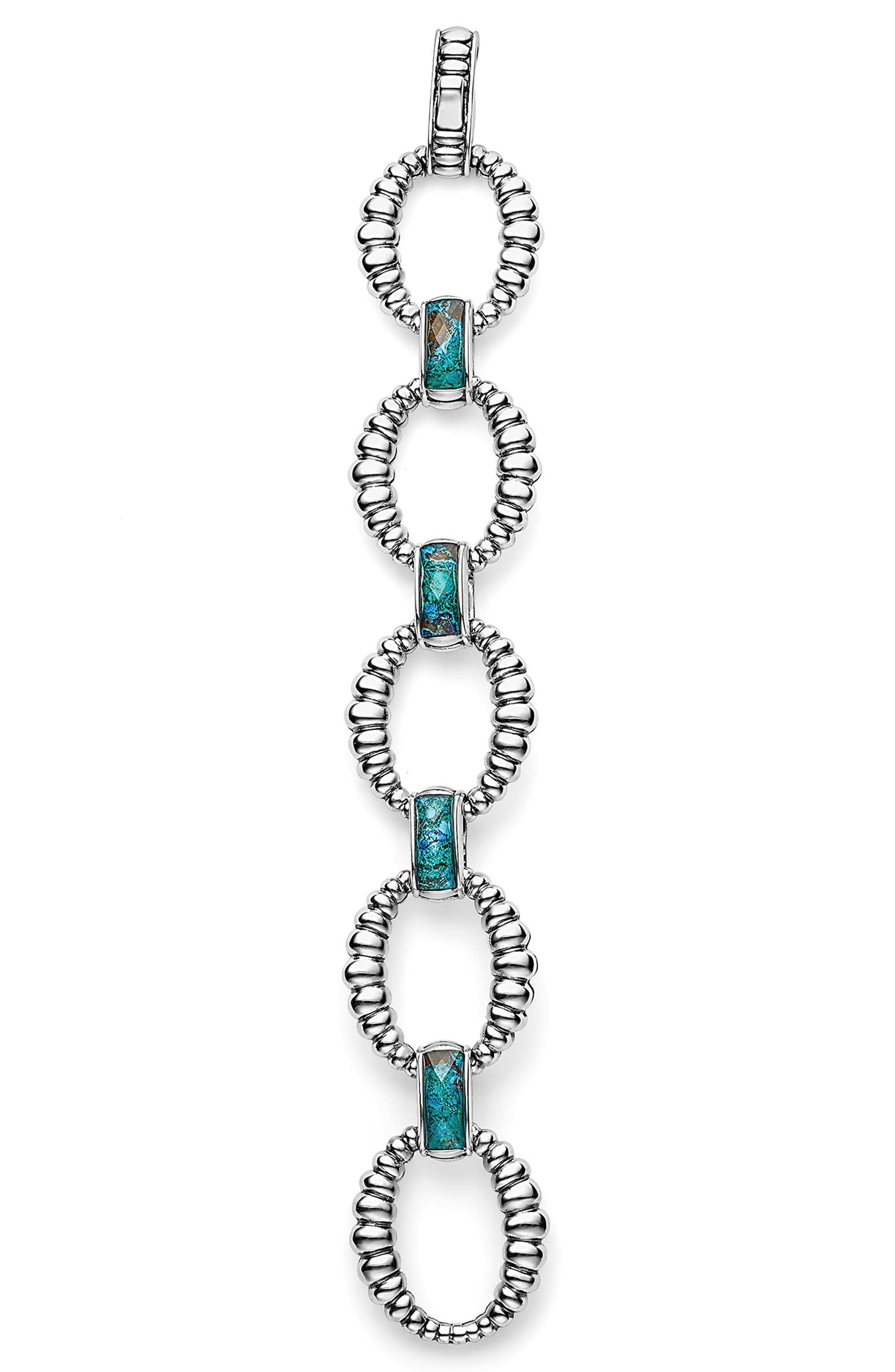 Maya Fluted Link Bracelet,                             Alternate thumbnail 2, color,                             Chrysocolla