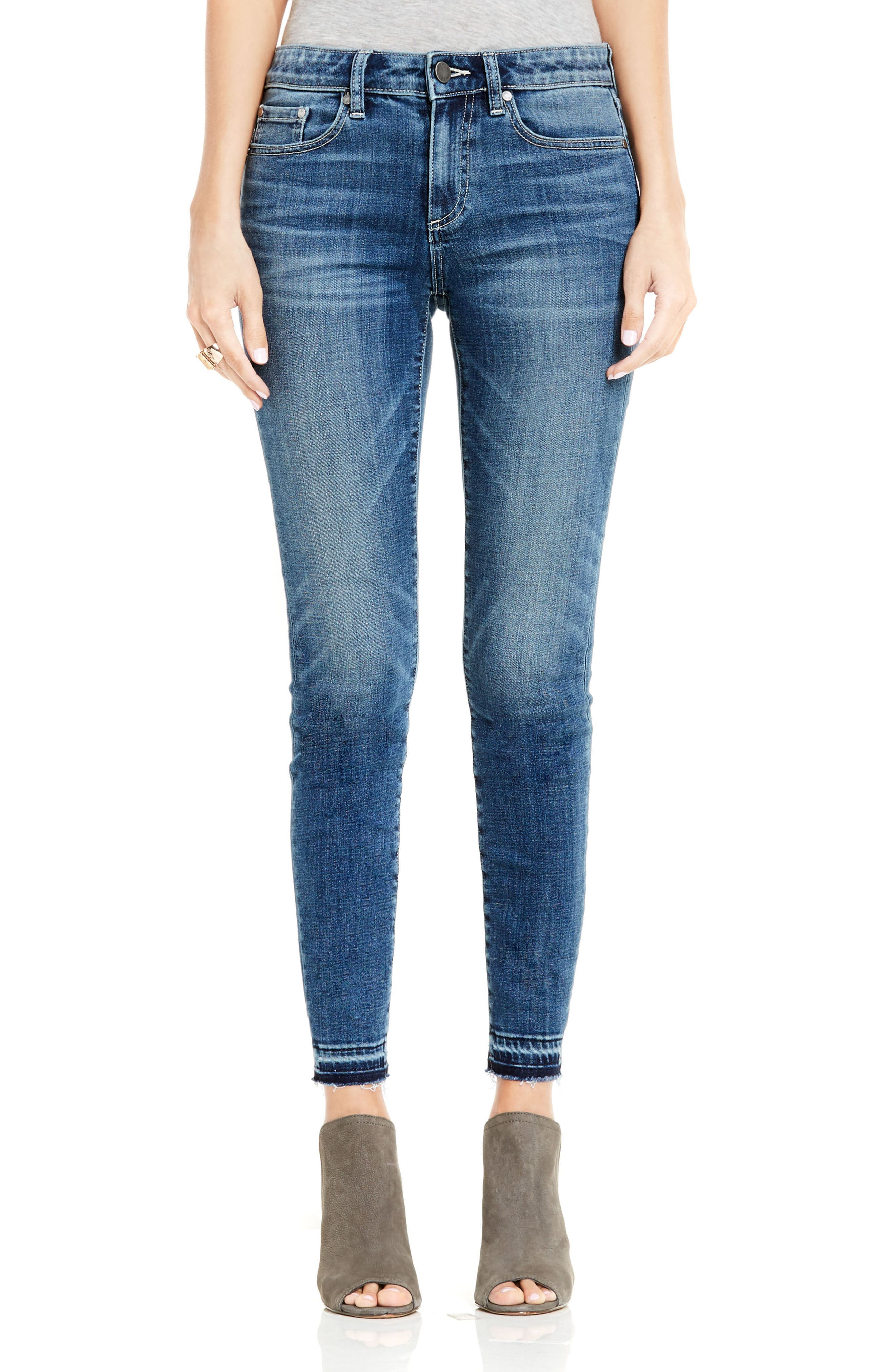 Release Hem Skinny Jeans,                             Main thumbnail 1, color,                             True Blue