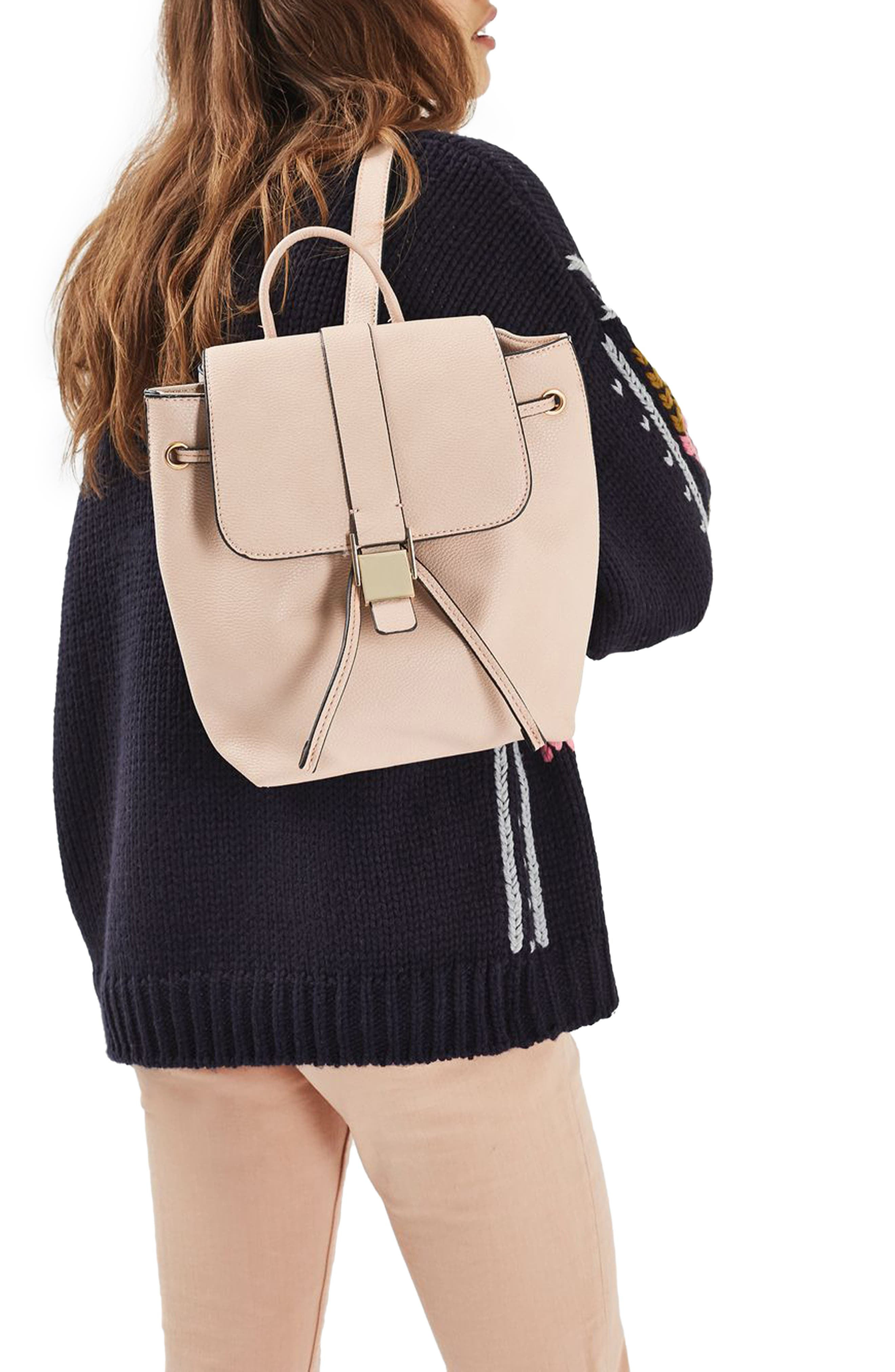 Alternate Image 2  - Topshop Mini Glasgow Faux Leather Backpack