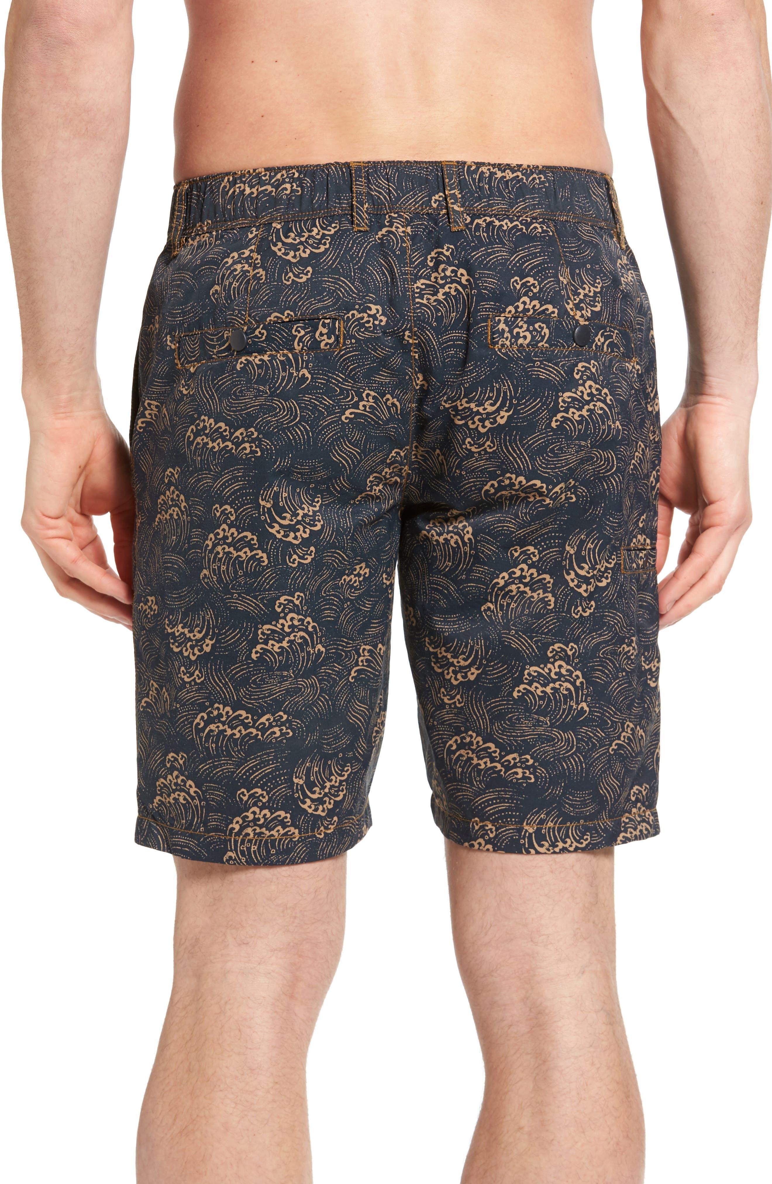 Big Surf Print Hybrid Shorts,                             Alternate thumbnail 2, color,                             Admiral