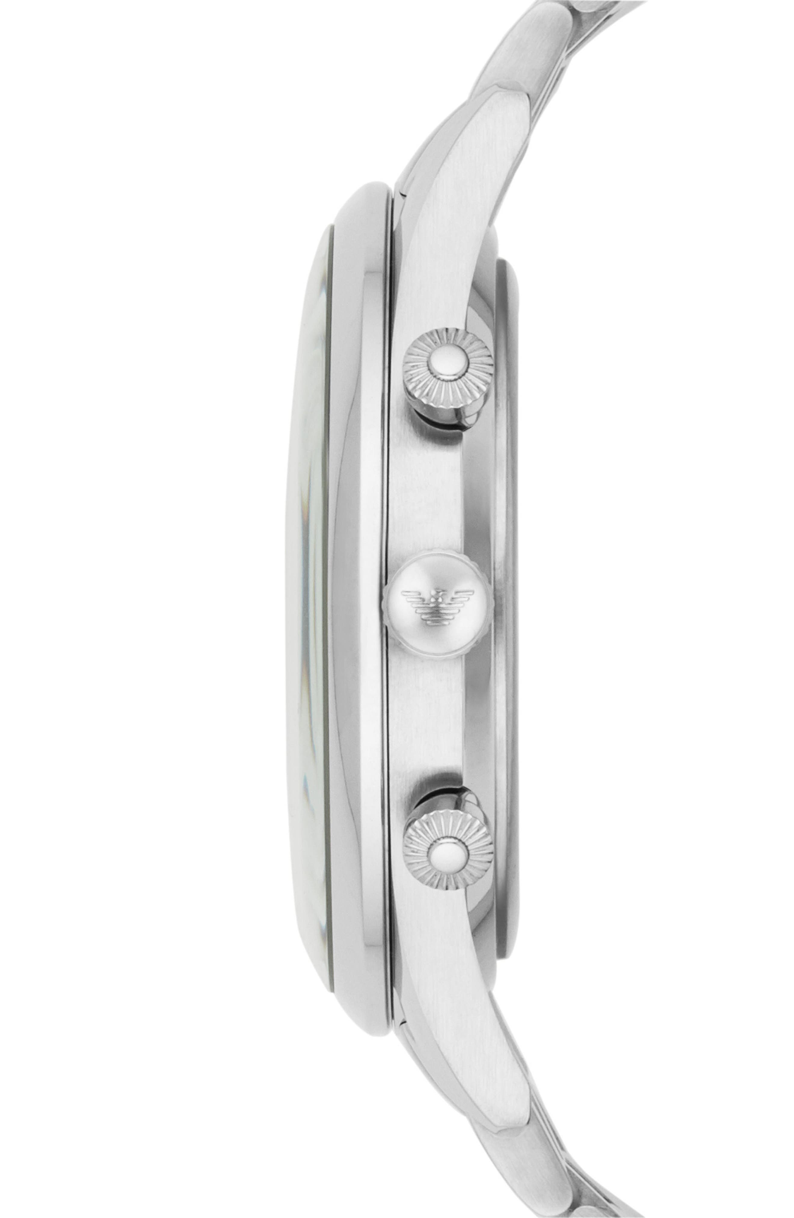 Chronograph Bracelet Watch, 43mm,                             Alternate thumbnail 2, color,                             Black/ Silver