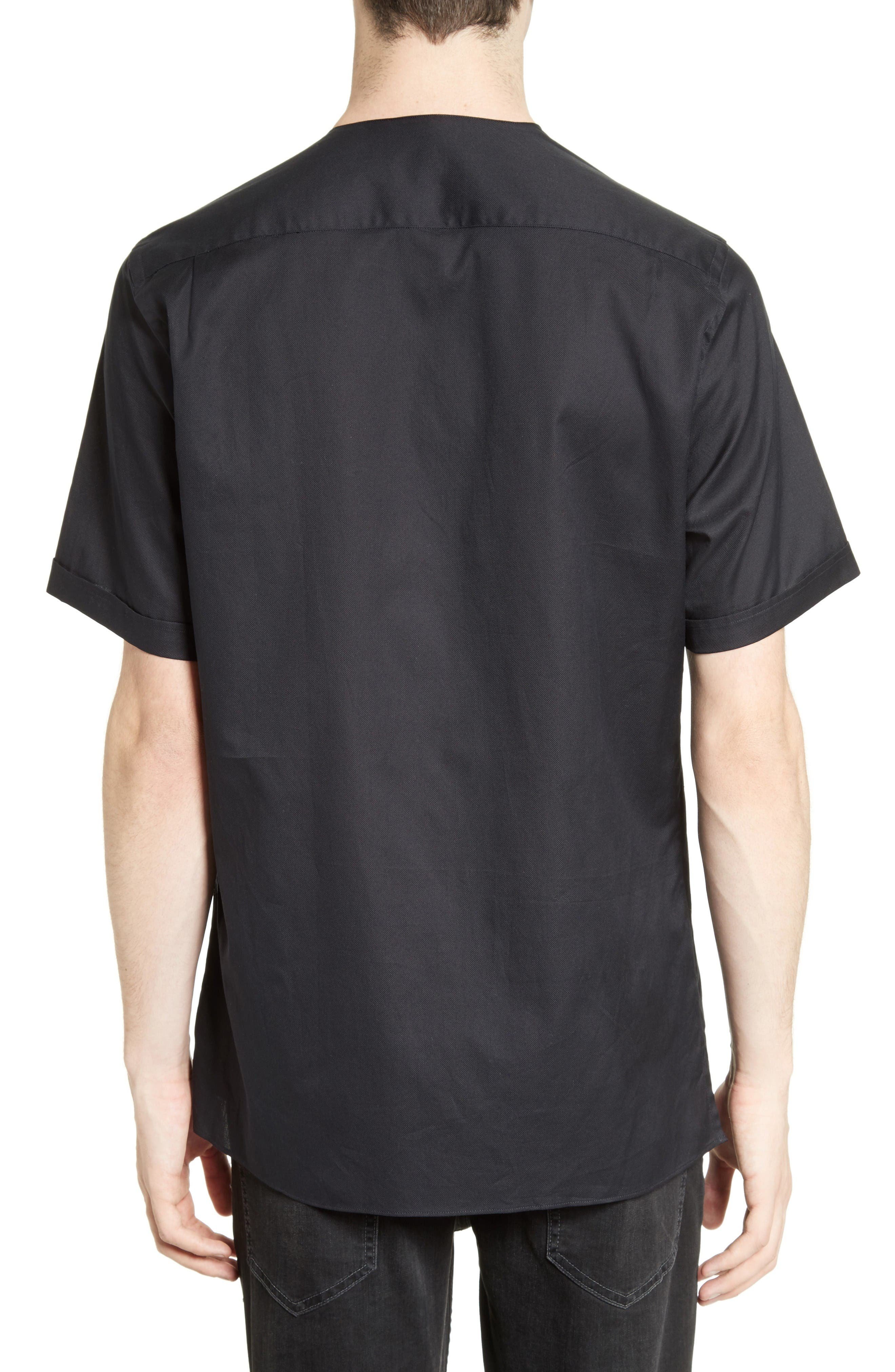 Alternate Image 2  - The Kooples Classic Cotton Woven V-Neck Shirt