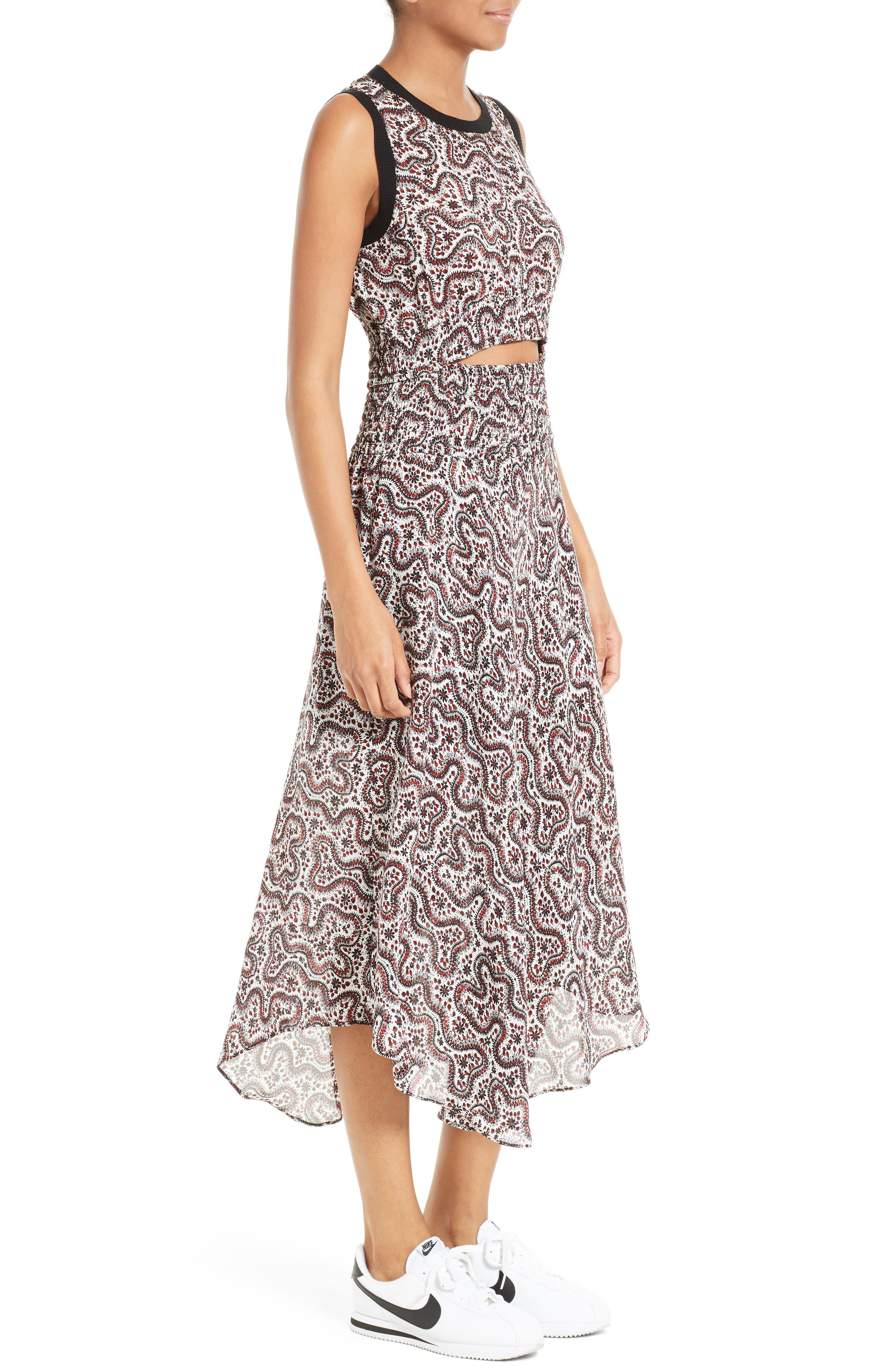 Alternate Image 4  - A.L.C. Sandra Cutout Silk Midi Dress
