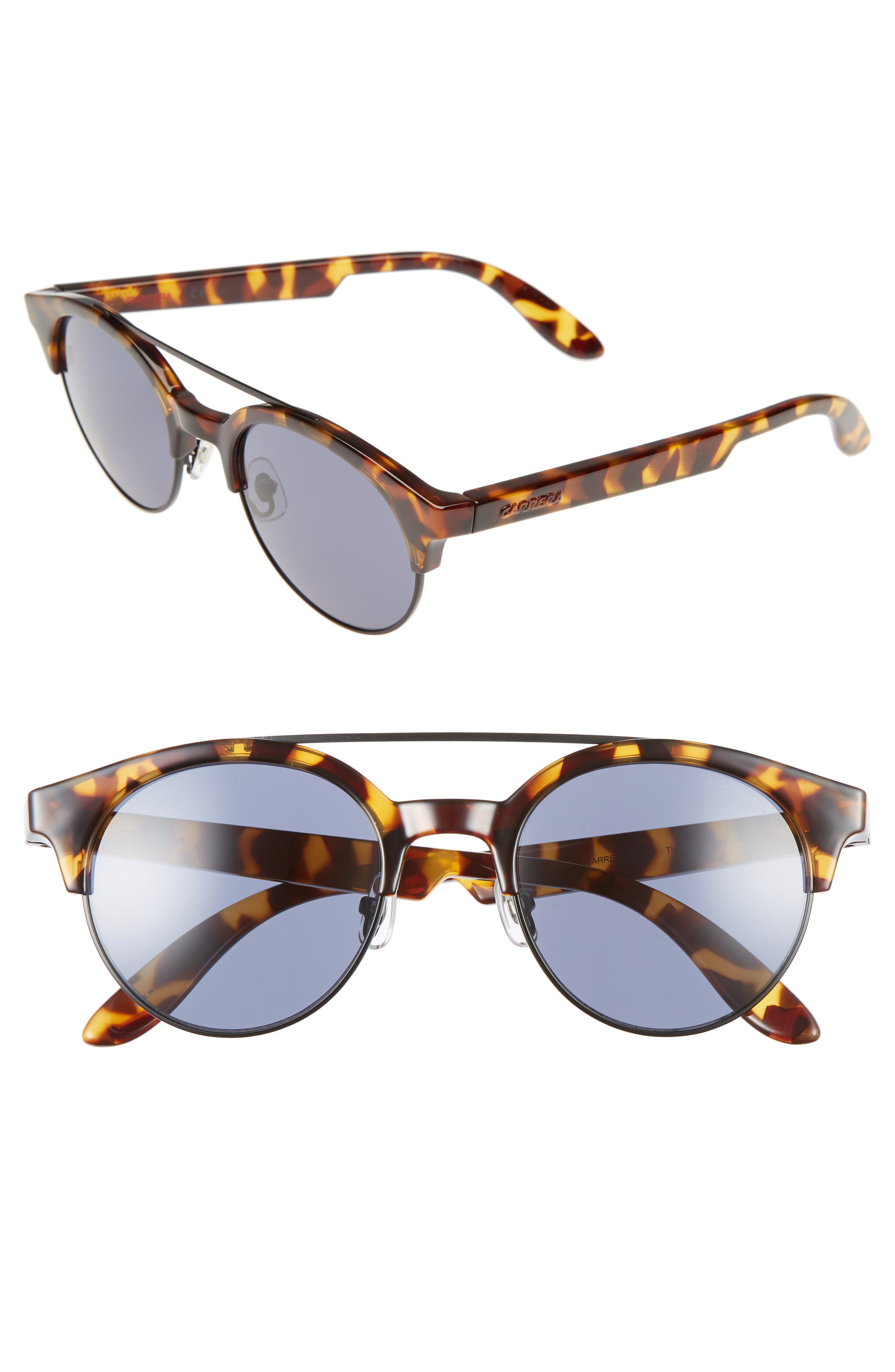 Retro 50mm Sunglasses,                             Main thumbnail 1, color,                             Havana Black