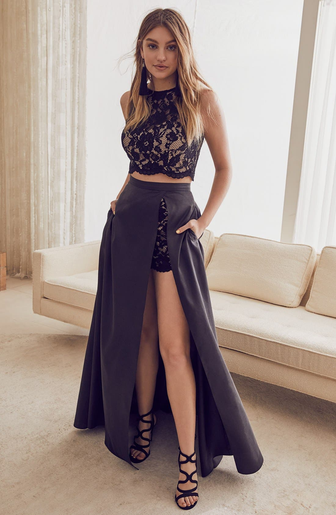 Alternate Image 9  - Xscape Lace & Taffeta Two-Piece Gown