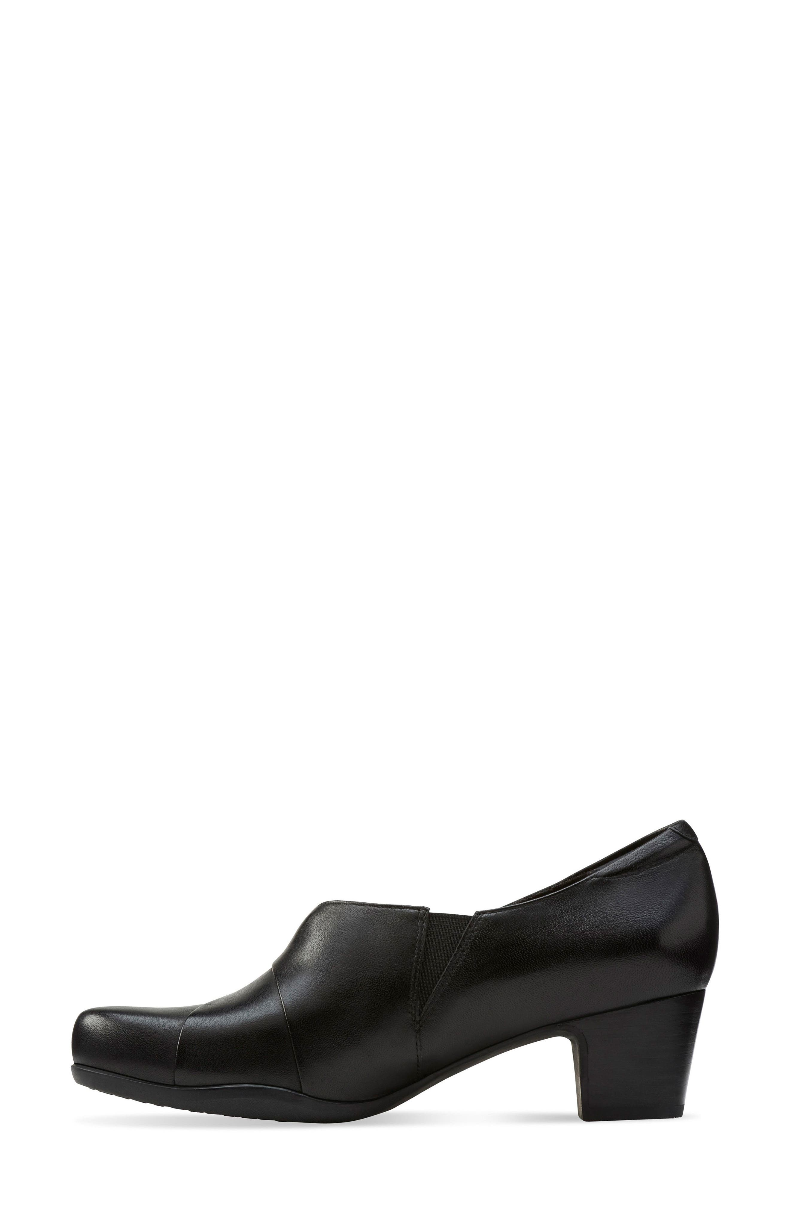 'Rosalyn Adele' Block Heel Pump,                             Alternate thumbnail 2, color,                             Black Leather