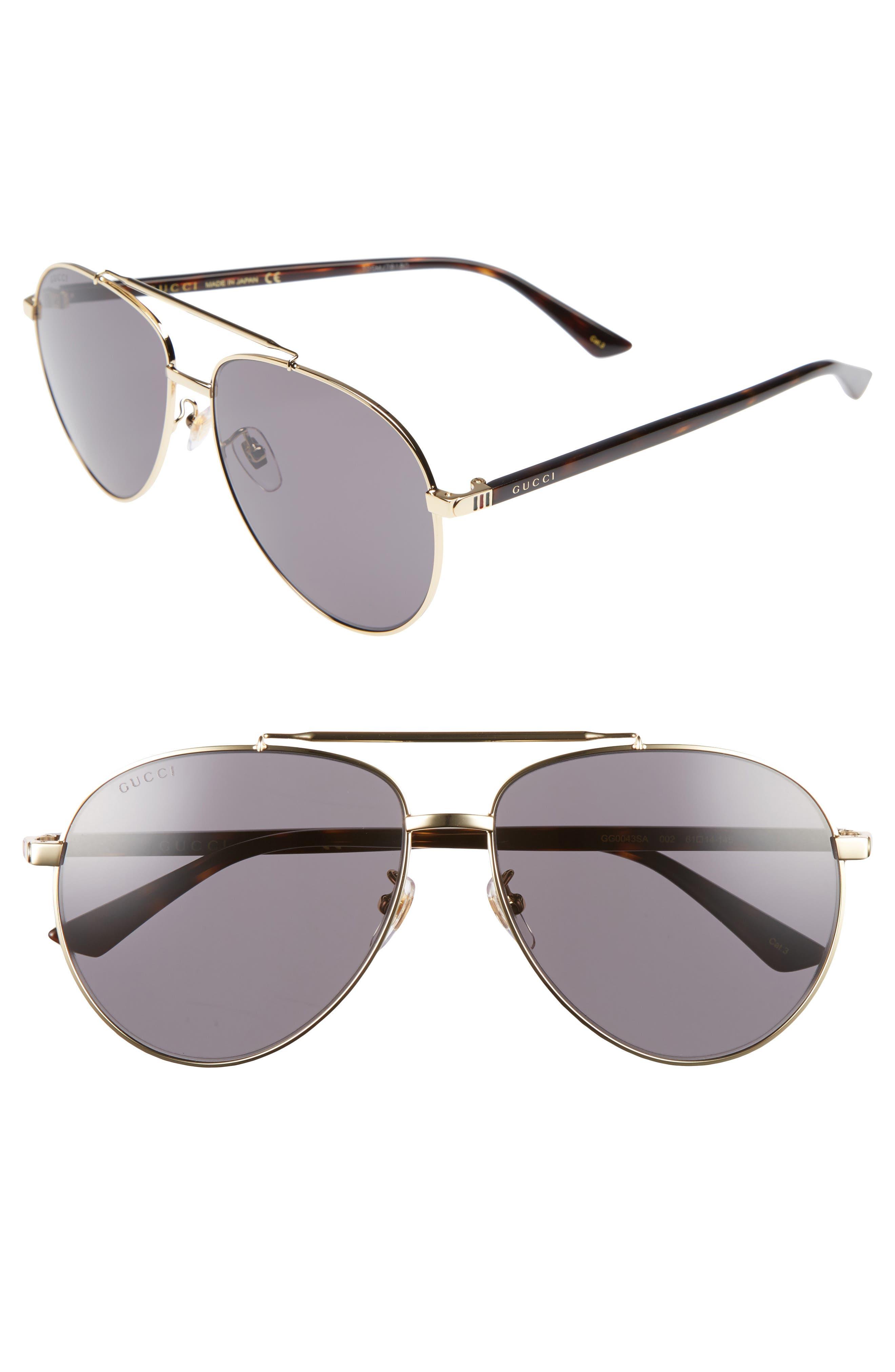 gucci 61mm aviator sunglasses. main image - gucci 61mm aviator sunglasses g