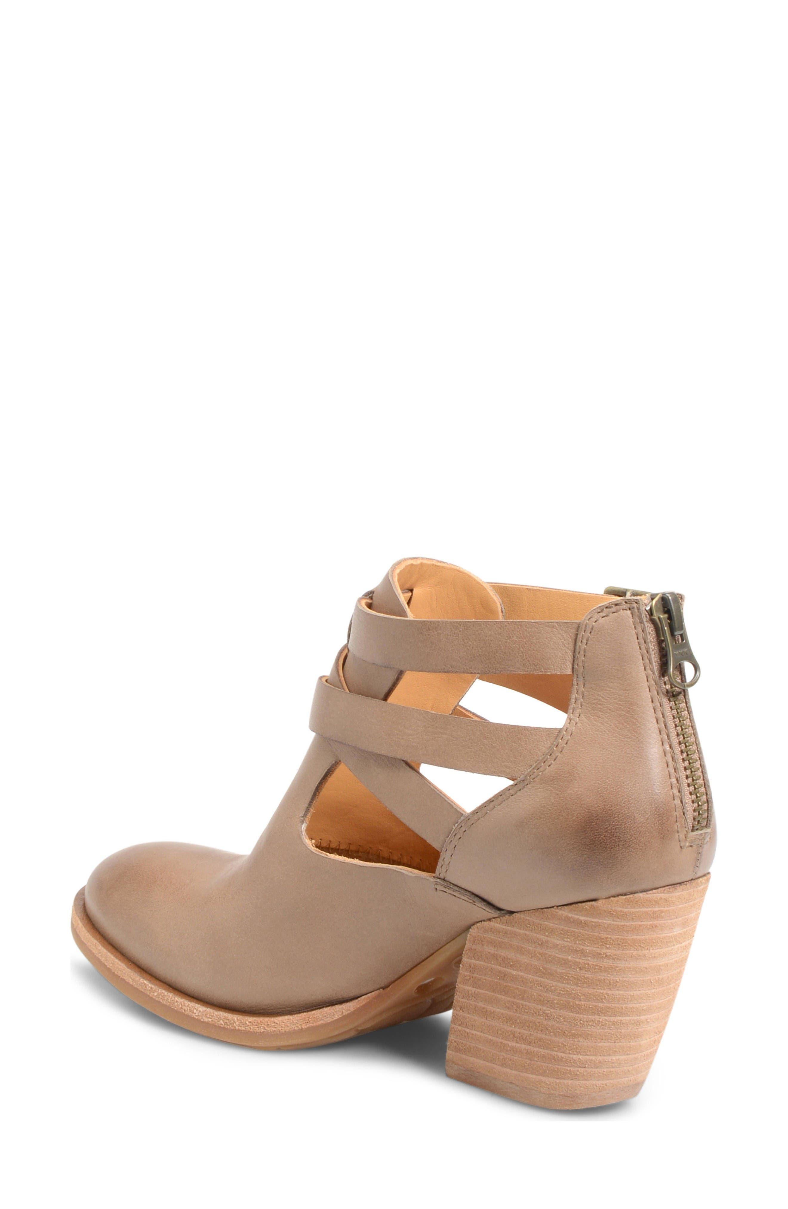 'Stina' Leather Bootie,                             Alternate thumbnail 2, color,                             Taupe Leather