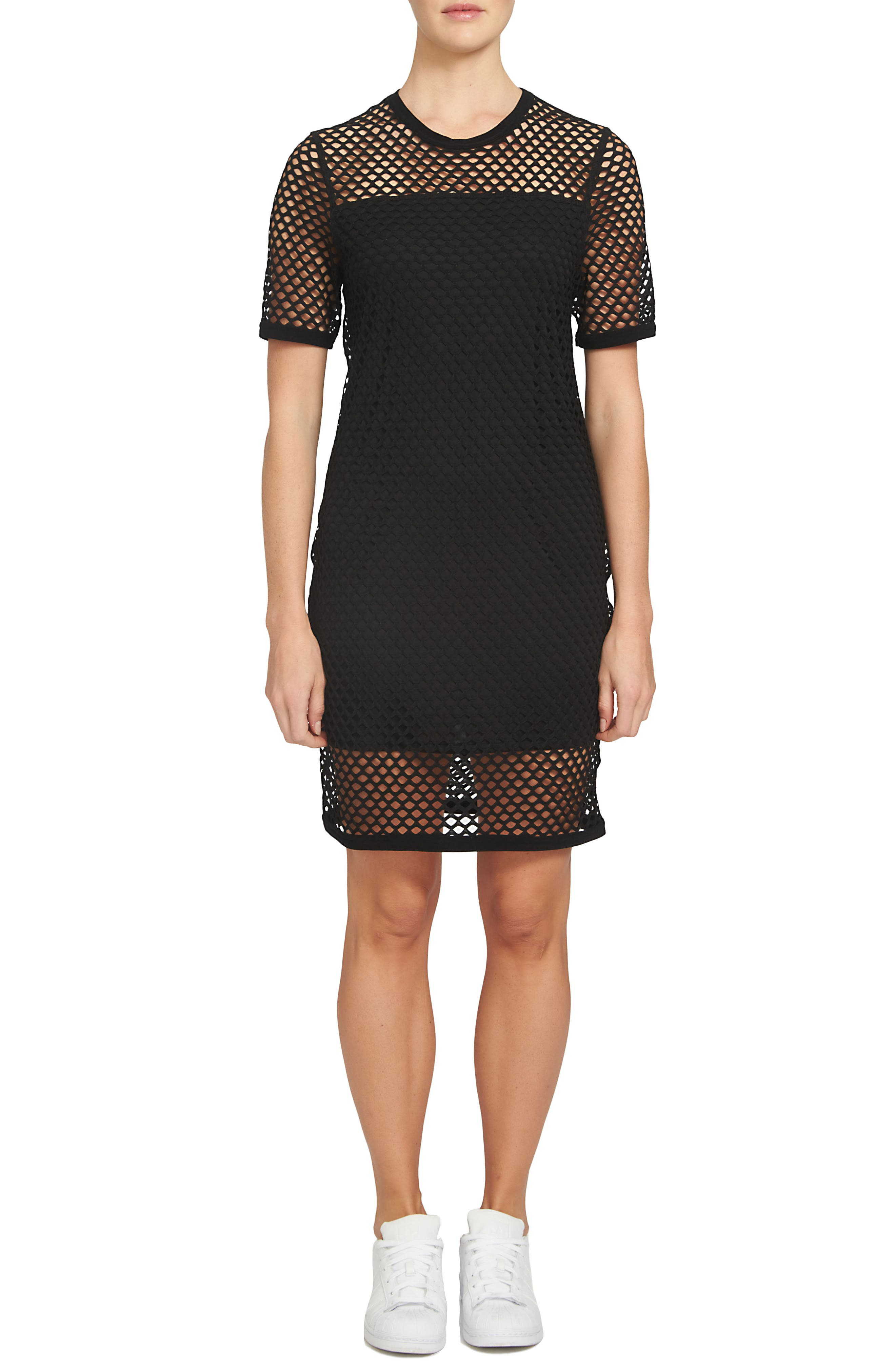 Alternate Image 1 Selected - 1.STATE Mesh T-Shirt Dress