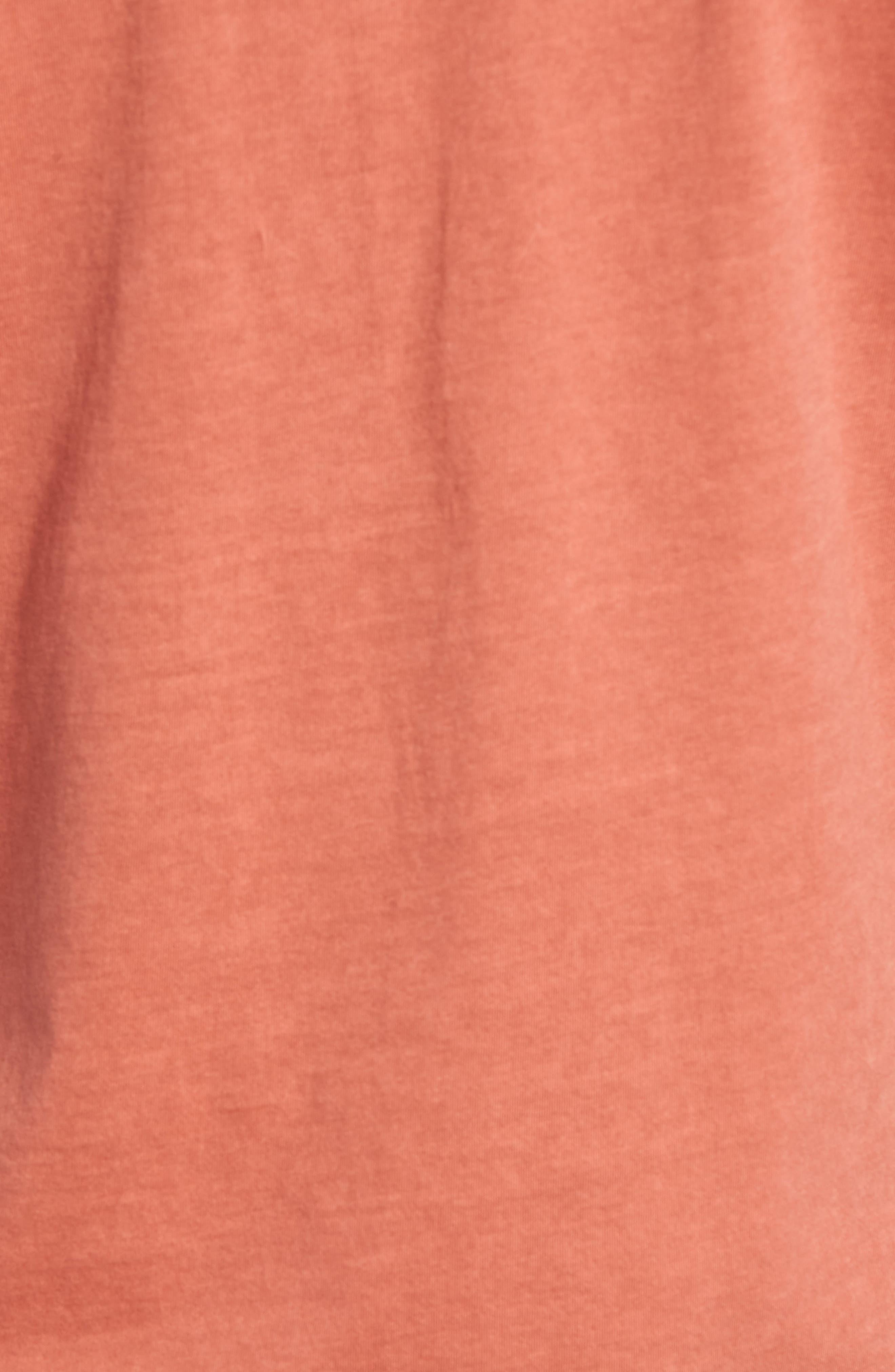 Edmund Pigment Jersey Henley,                             Alternate thumbnail 5, color,                             Rhubarb