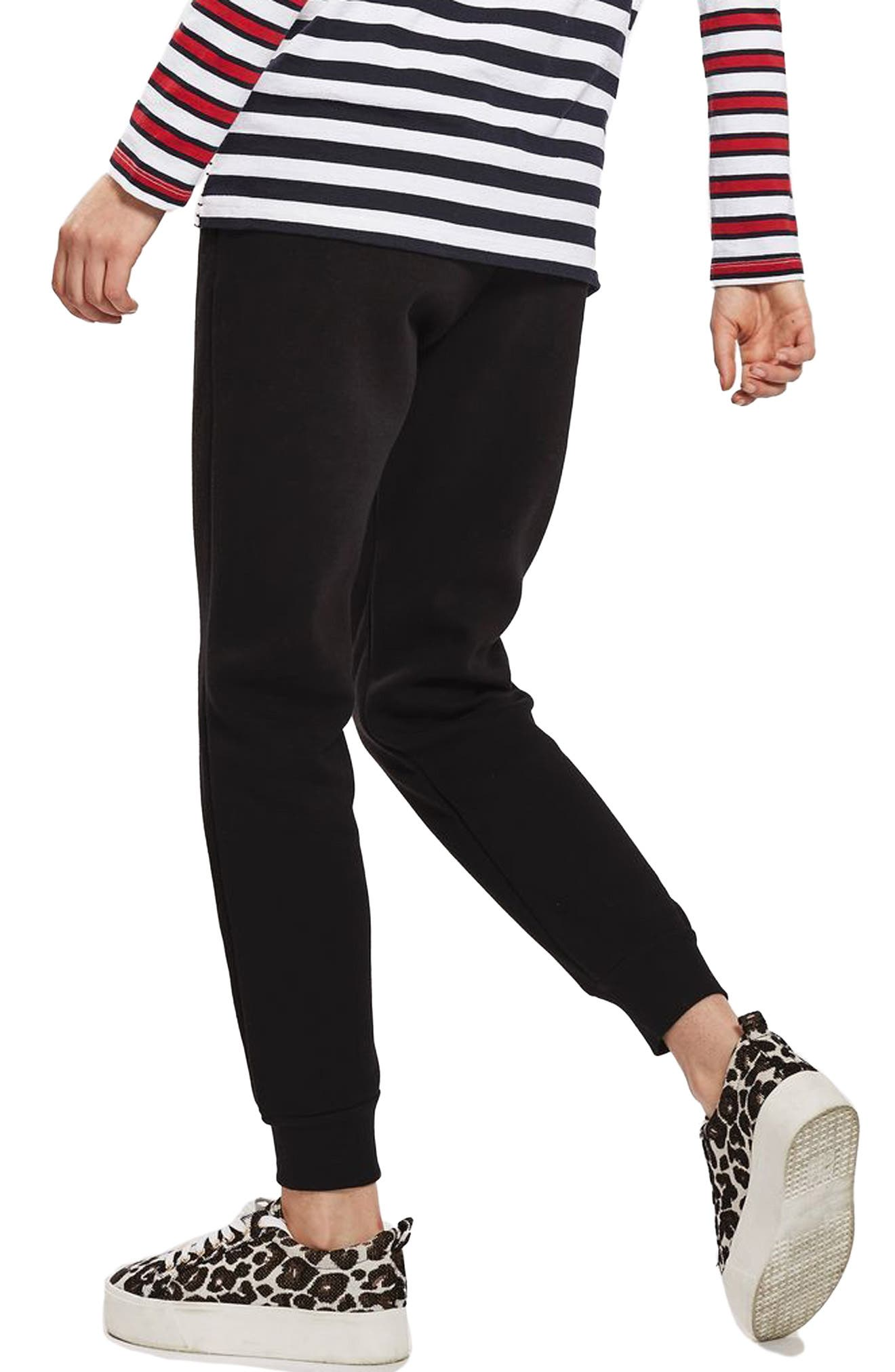 Clean Seam Jogger Pants,                             Alternate thumbnail 3, color,                             Black