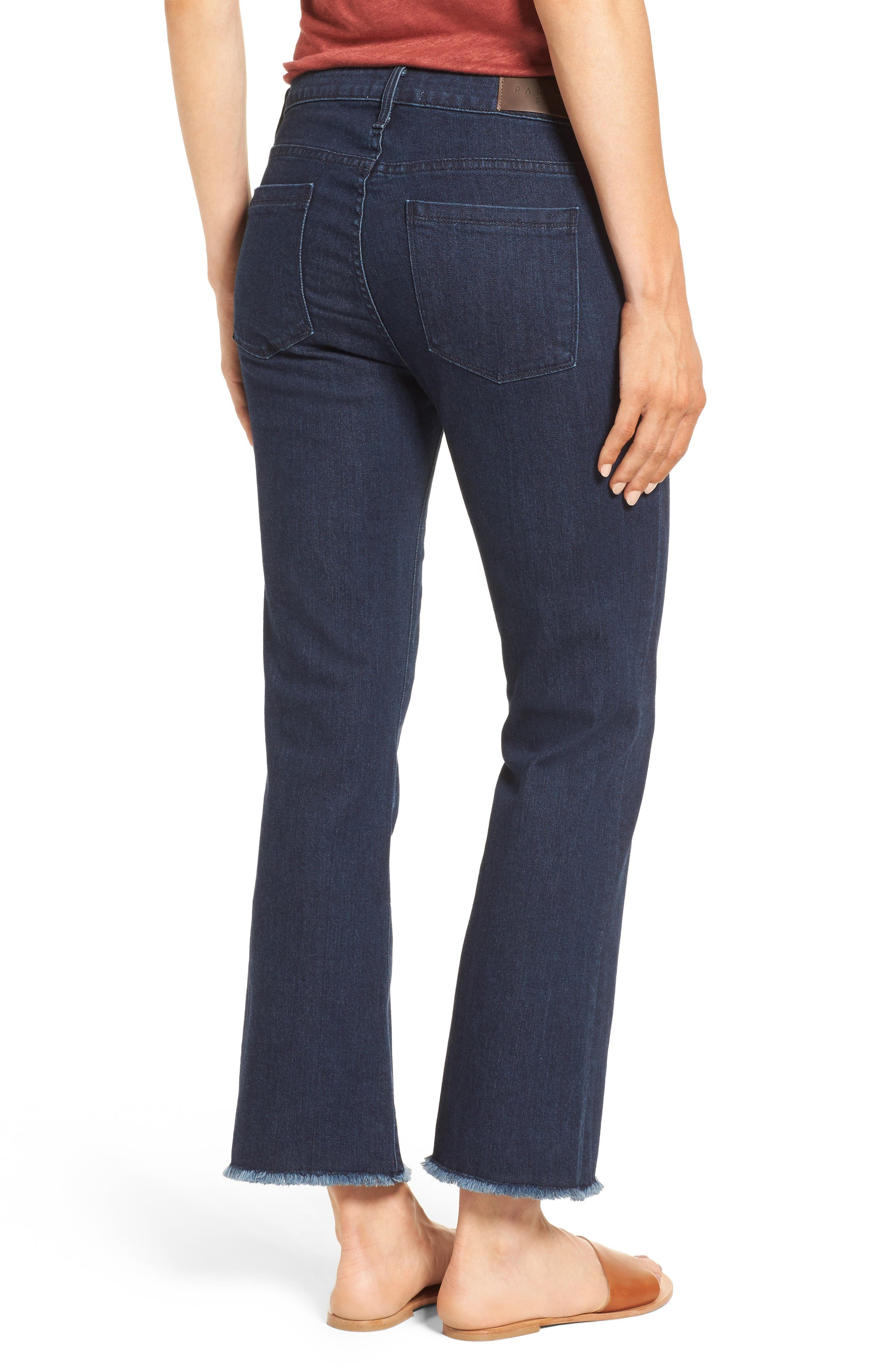 Alternate Image 3  - PARKER SMITH Brynna Crop Flare Jeans (Baltic)