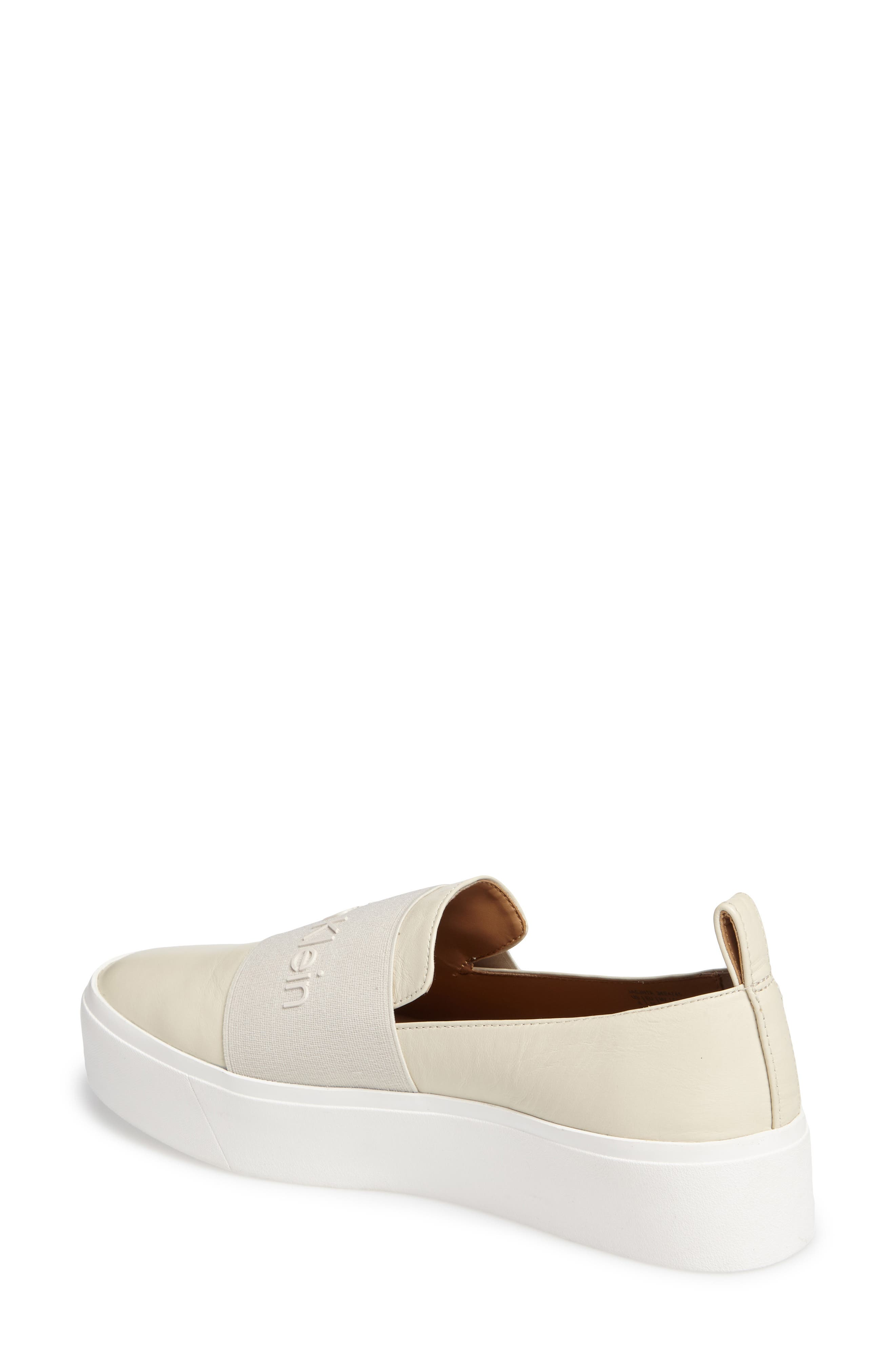 Jacinta Platform Sneaker,                             Alternate thumbnail 2, color,                             Soft White Leather