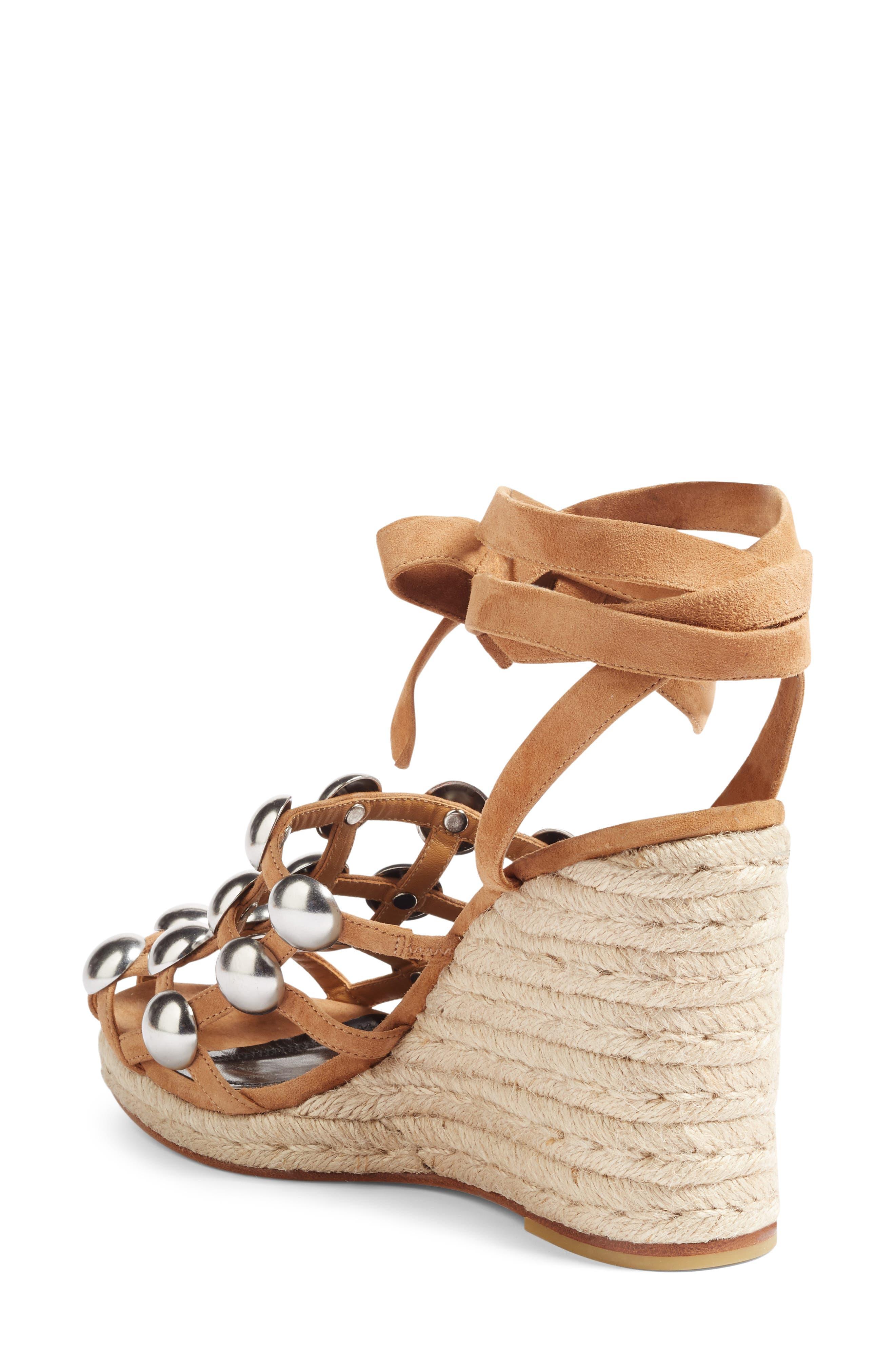 Alternate Image 2  - Alexander Wang Taylor Stud Wedge Sandal (Women)