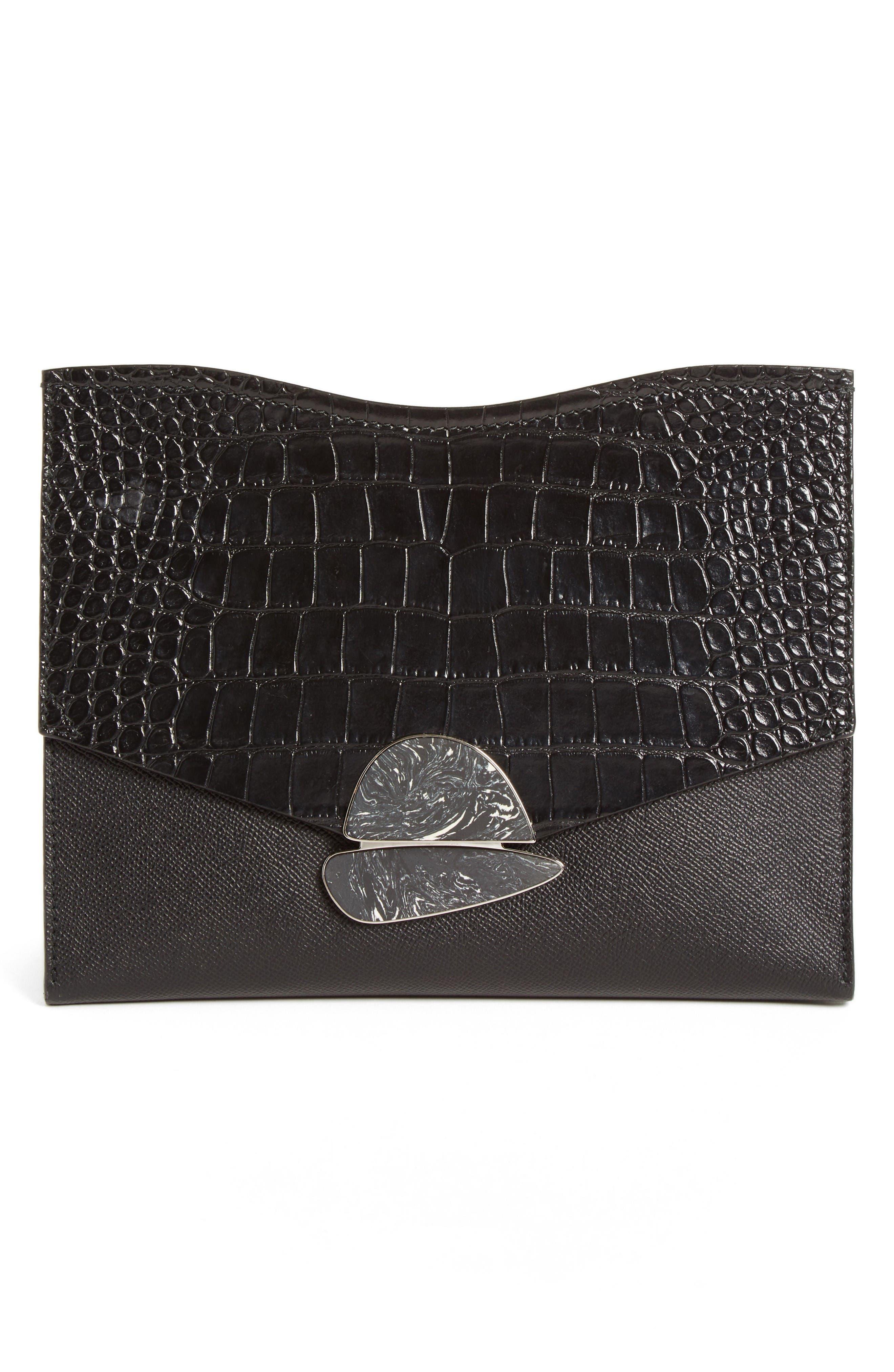 Proenza Schouler Medium Curl Leather Clutch