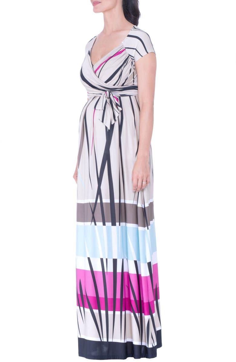Print Maternity Maxi Dress