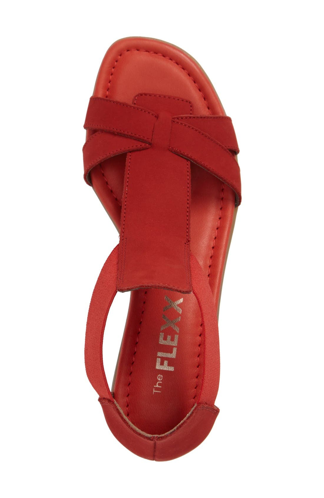 'Band Together' Sandal,                             Alternate thumbnail 3, color,                             Cherry Nubuck