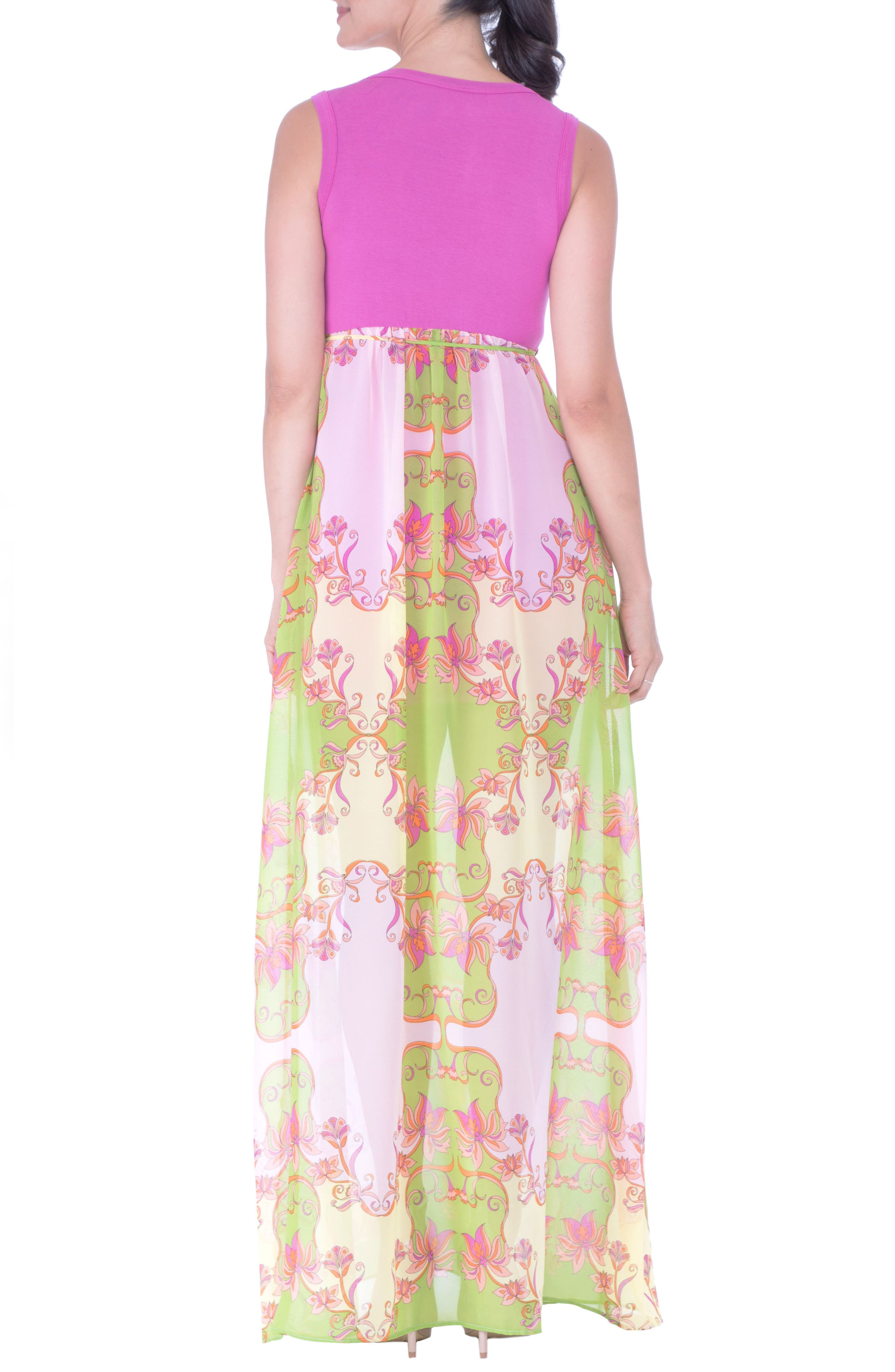 Alternate Image 2  - Olian Maternity Maxi Dress