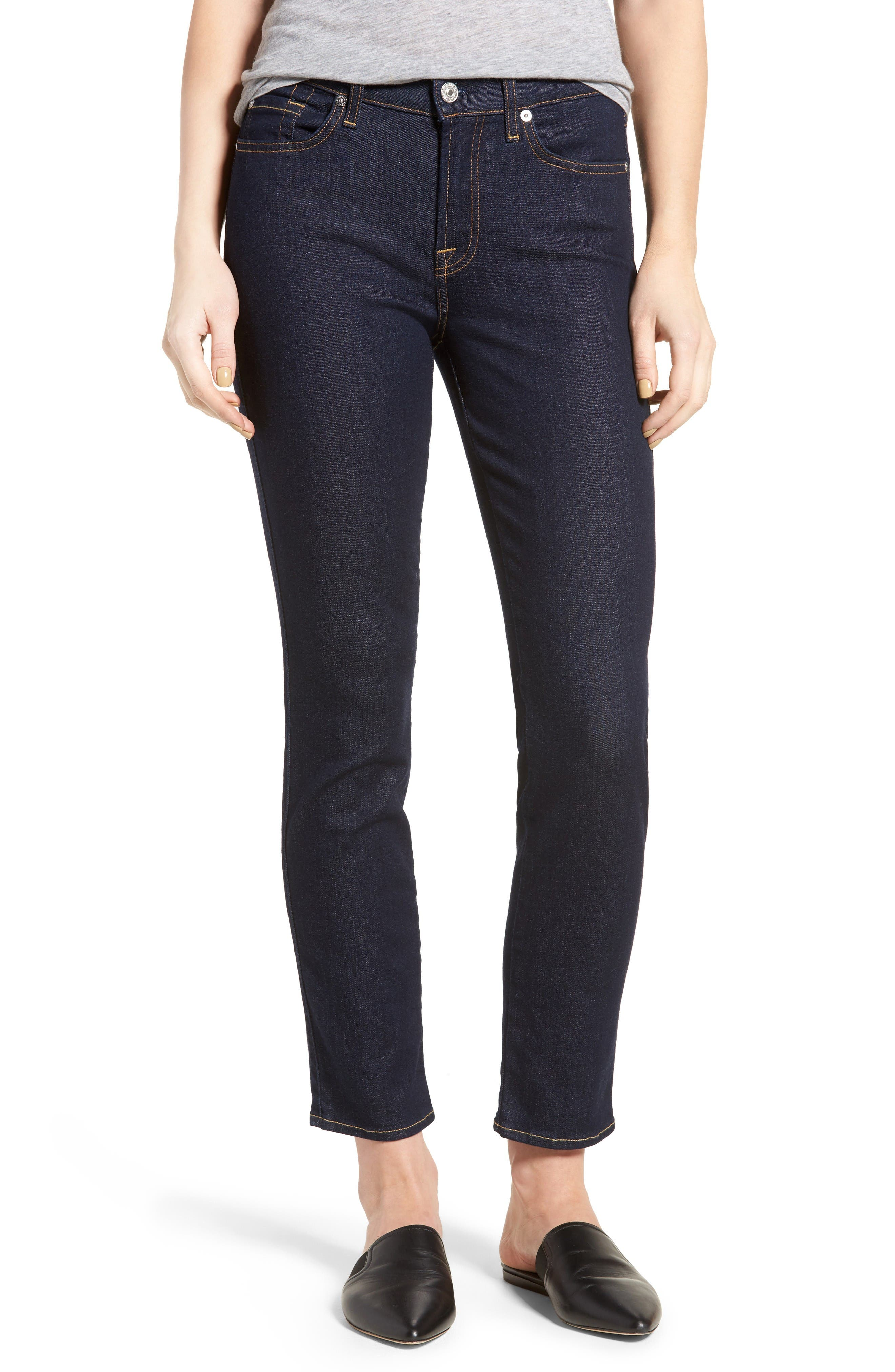 b(air) Roxanne Ankle Skinny Jeans,                             Main thumbnail 1, color,                             B(Air) Authentic Rinse